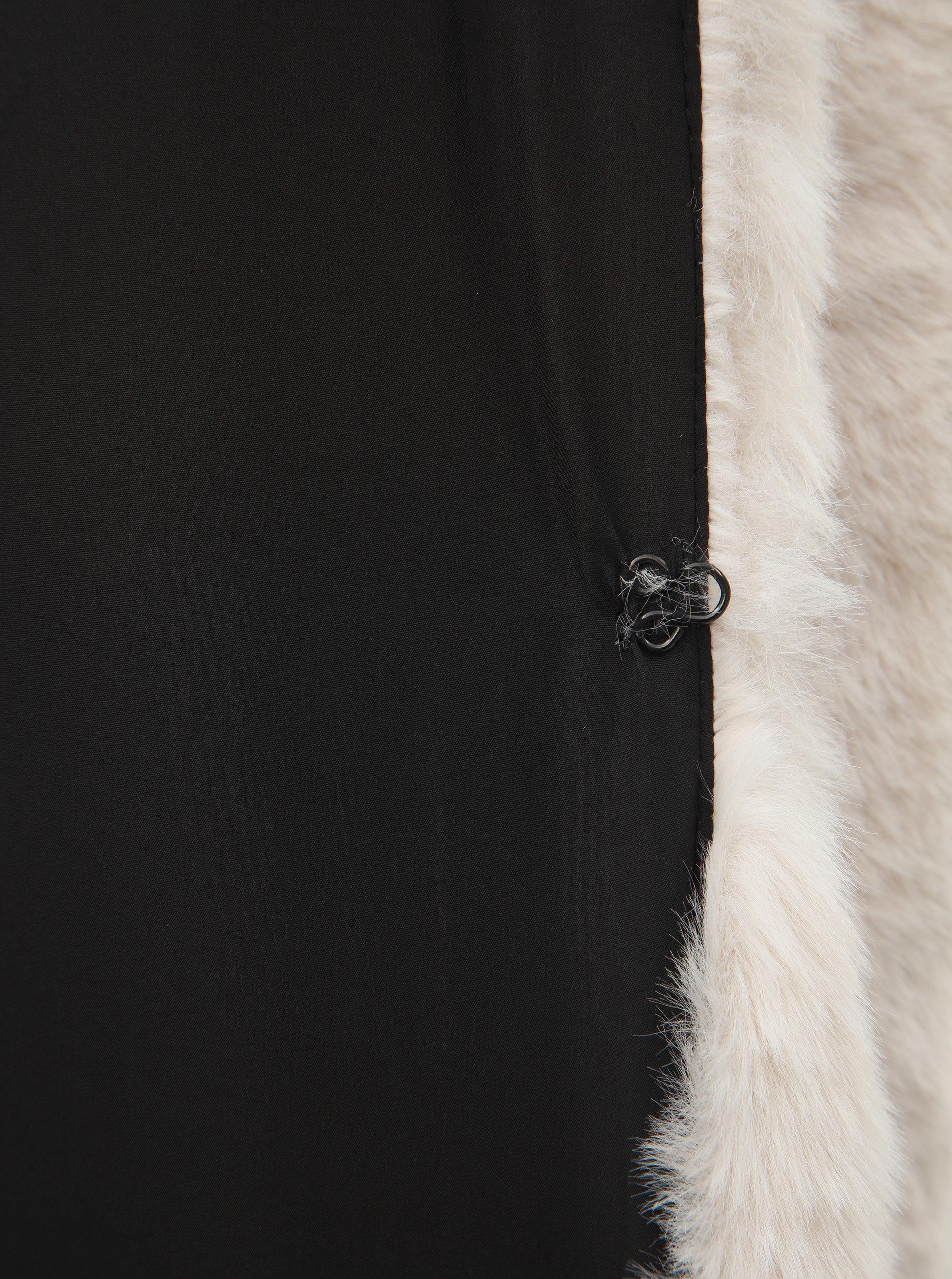 Krémový krátky kabát z umelej kožušinky TALLY WEiJL ... 3f5ac0d4275