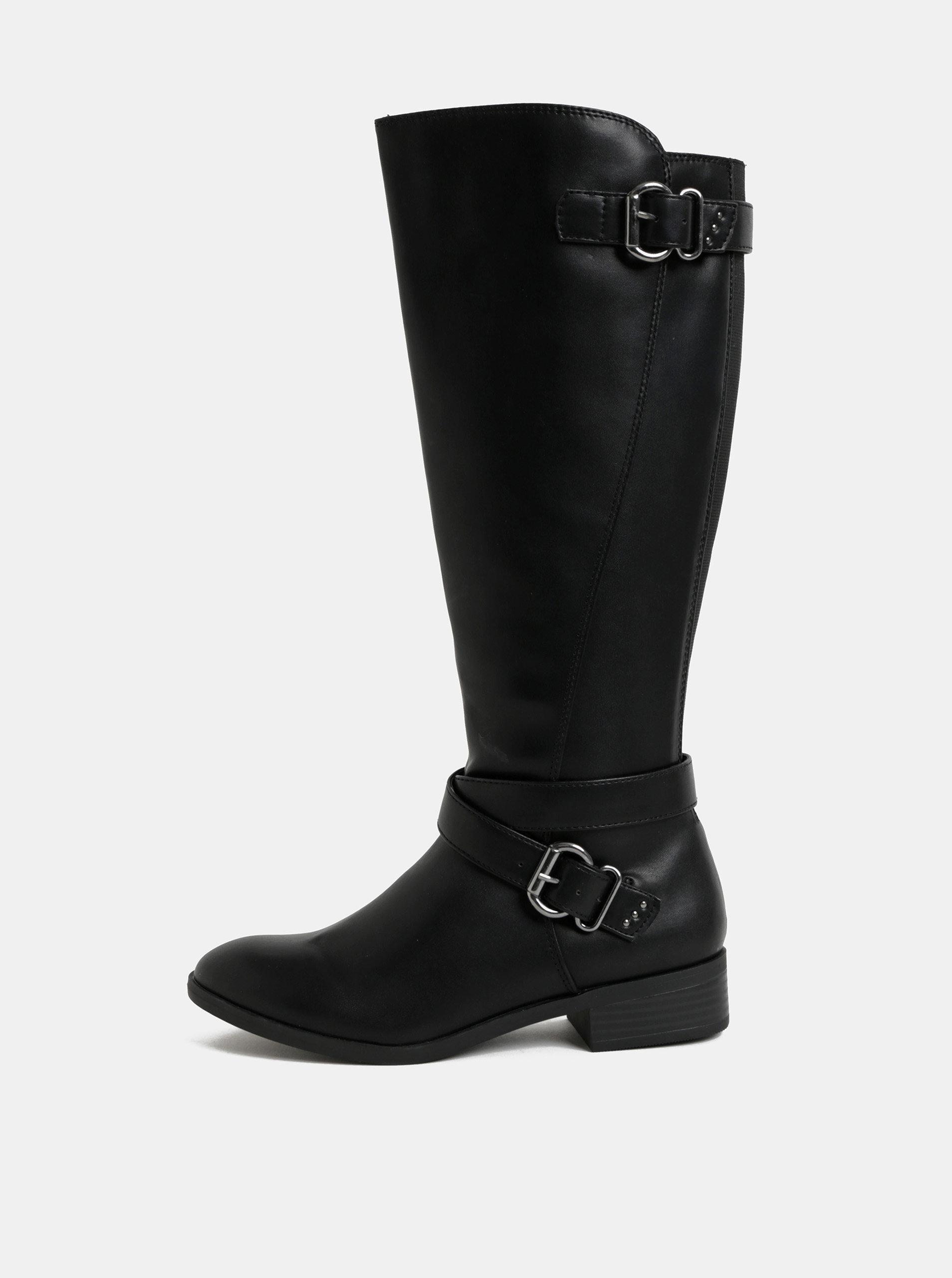 0db1d6fea Čierne čižmy s prackami v striebornej farbe Dorothy Perkins   ZOOT.sk