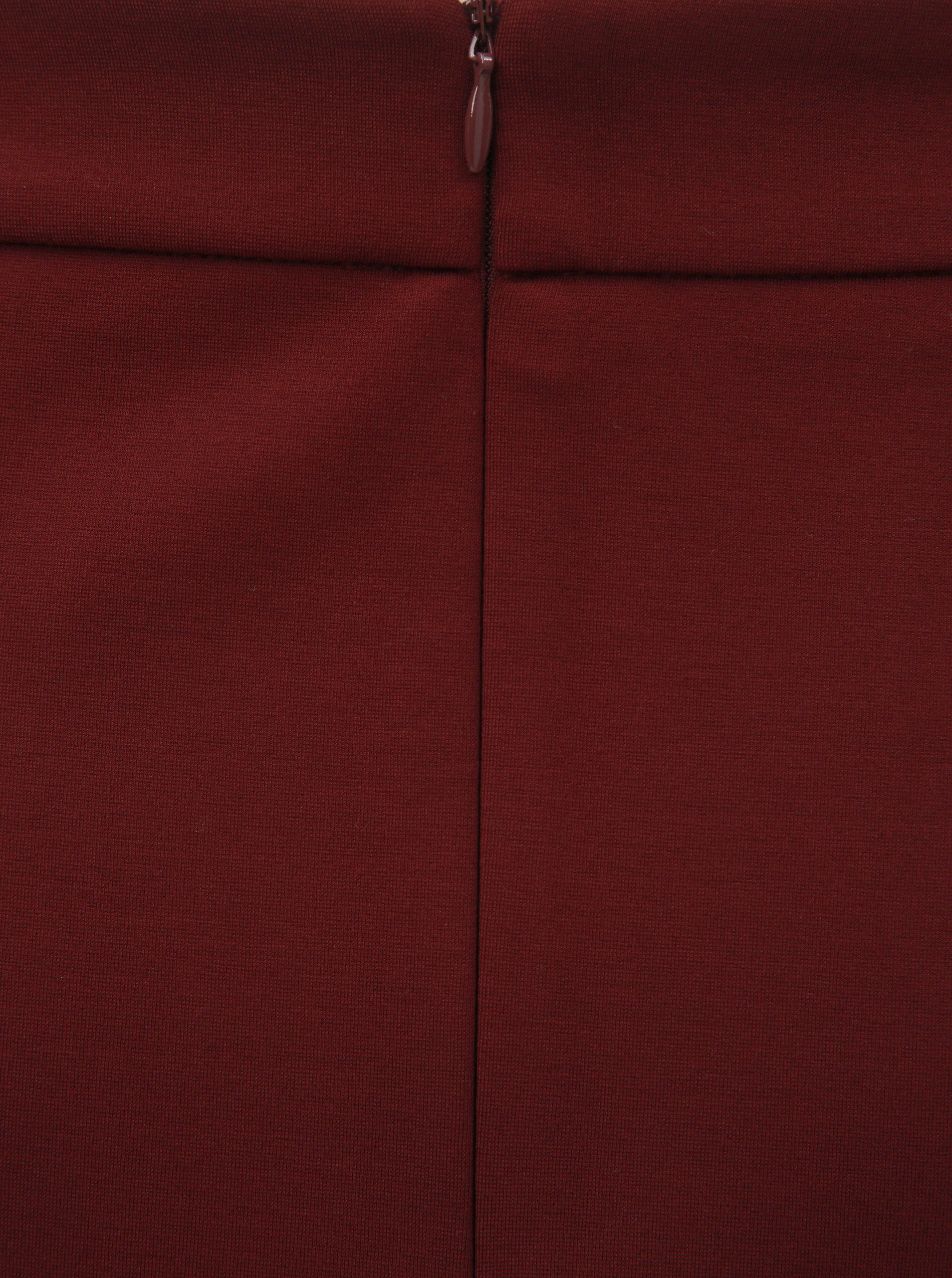 868a98c72550 Vínová áčková sukně s detaily ve zlaté barvě Dorothy Perkins ...