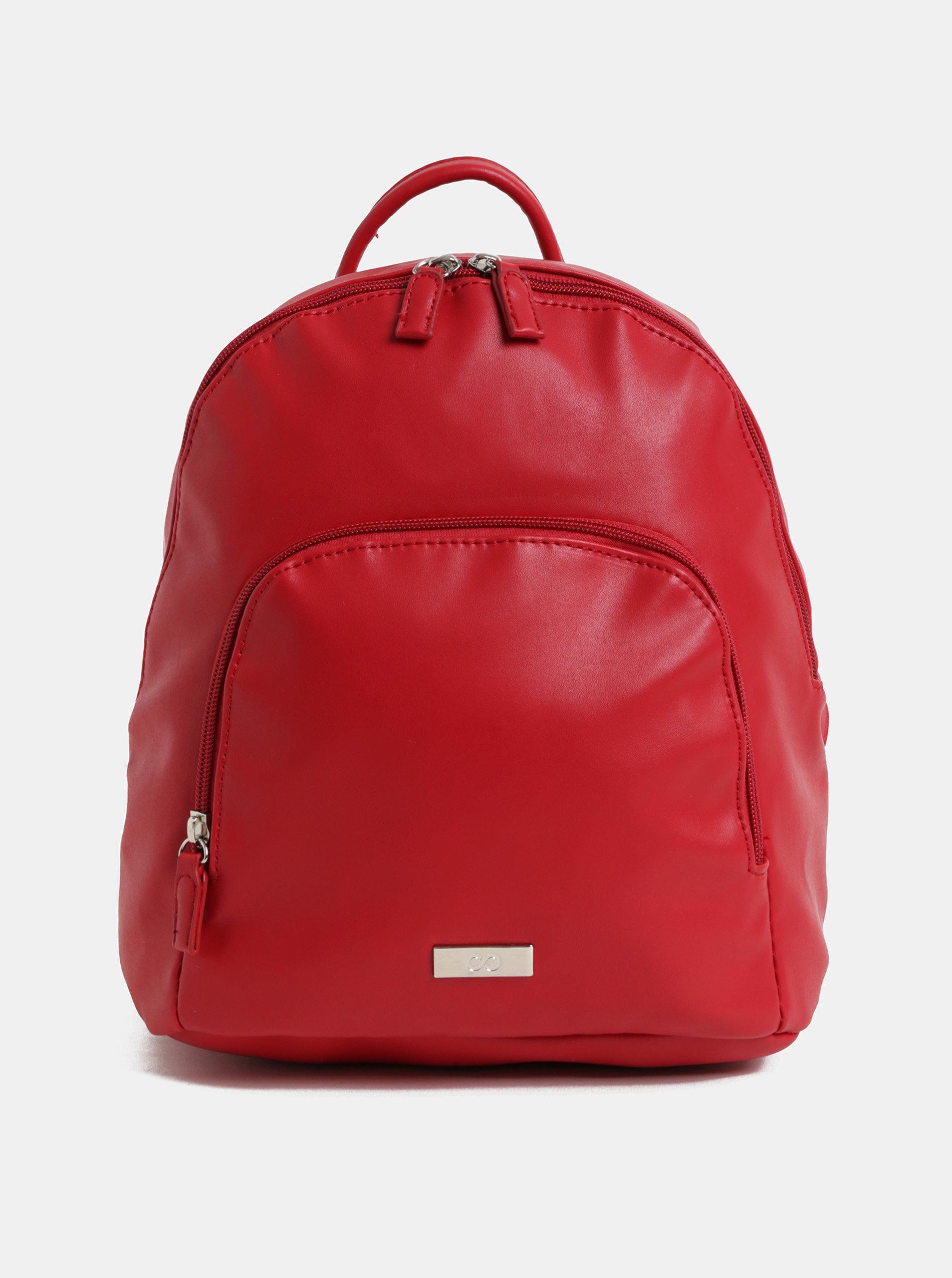 Červený batoh s přední kapsou ZOOT ... 801b68653e