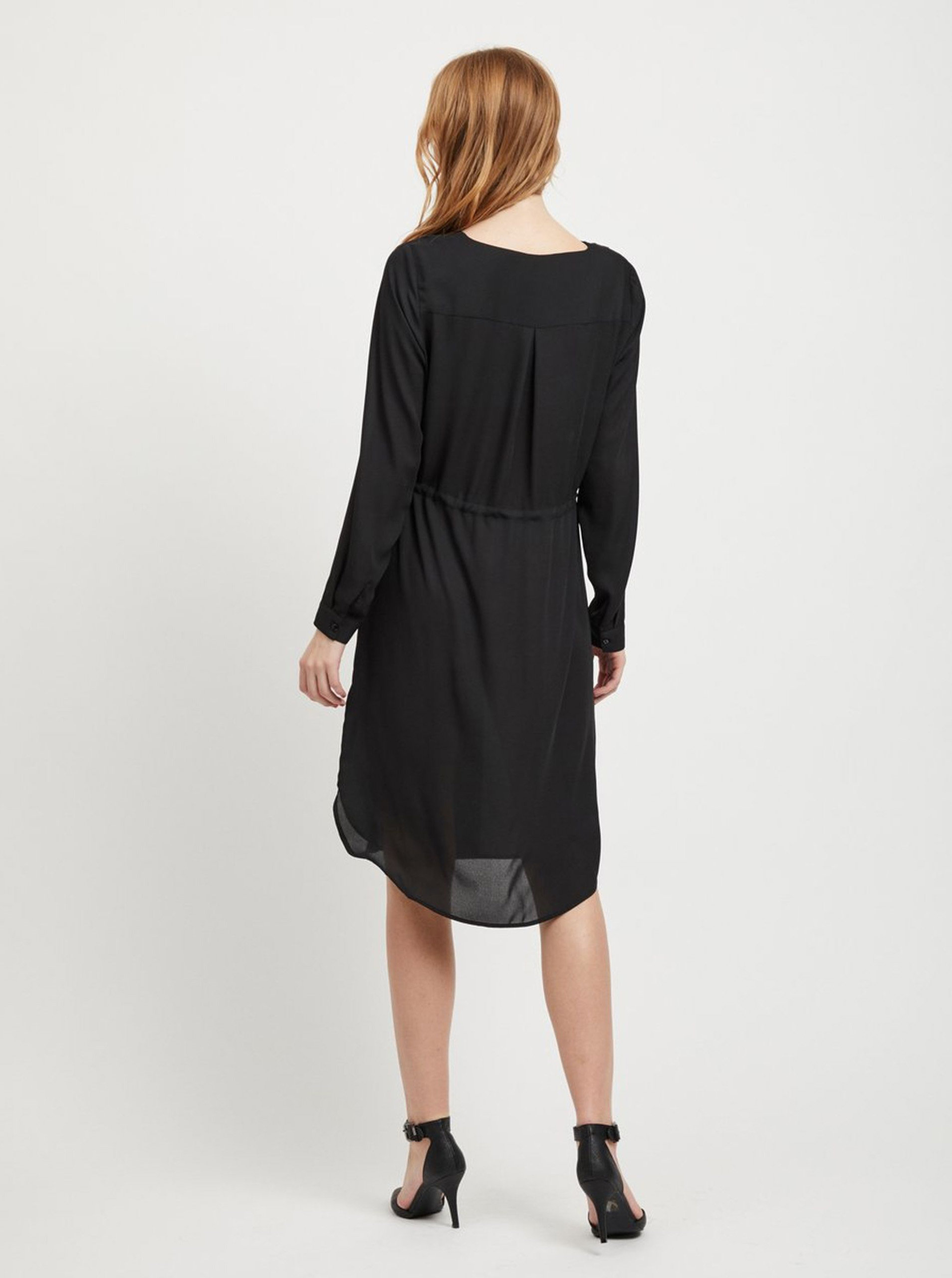 02a3b69bcfe3 Čierne košeľové šaty VILA Lucy ...