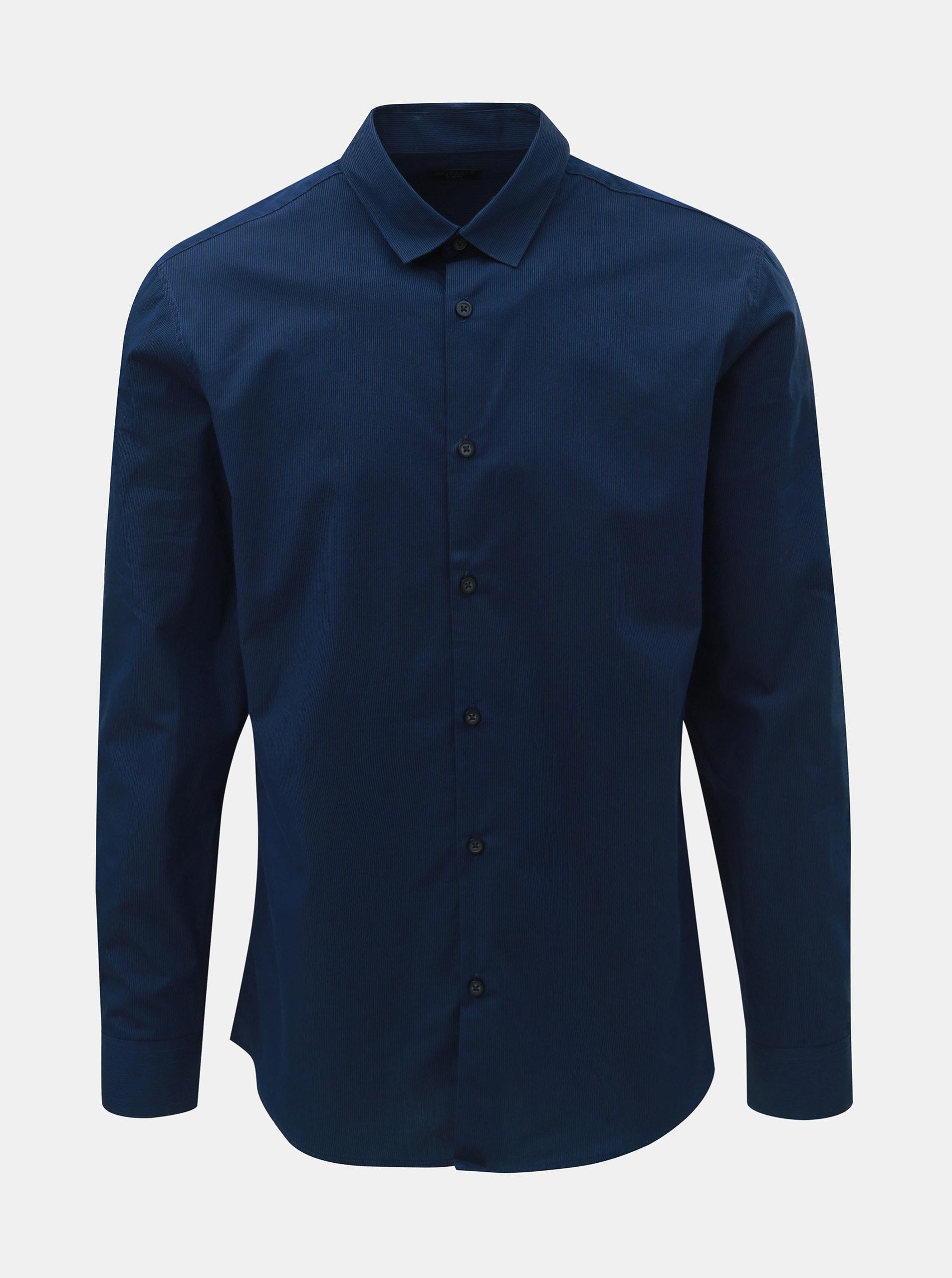 a46ba26a8f7 Tmavě modrá slim fit košile s drobnými pruhy Selected Homme Slim John ...