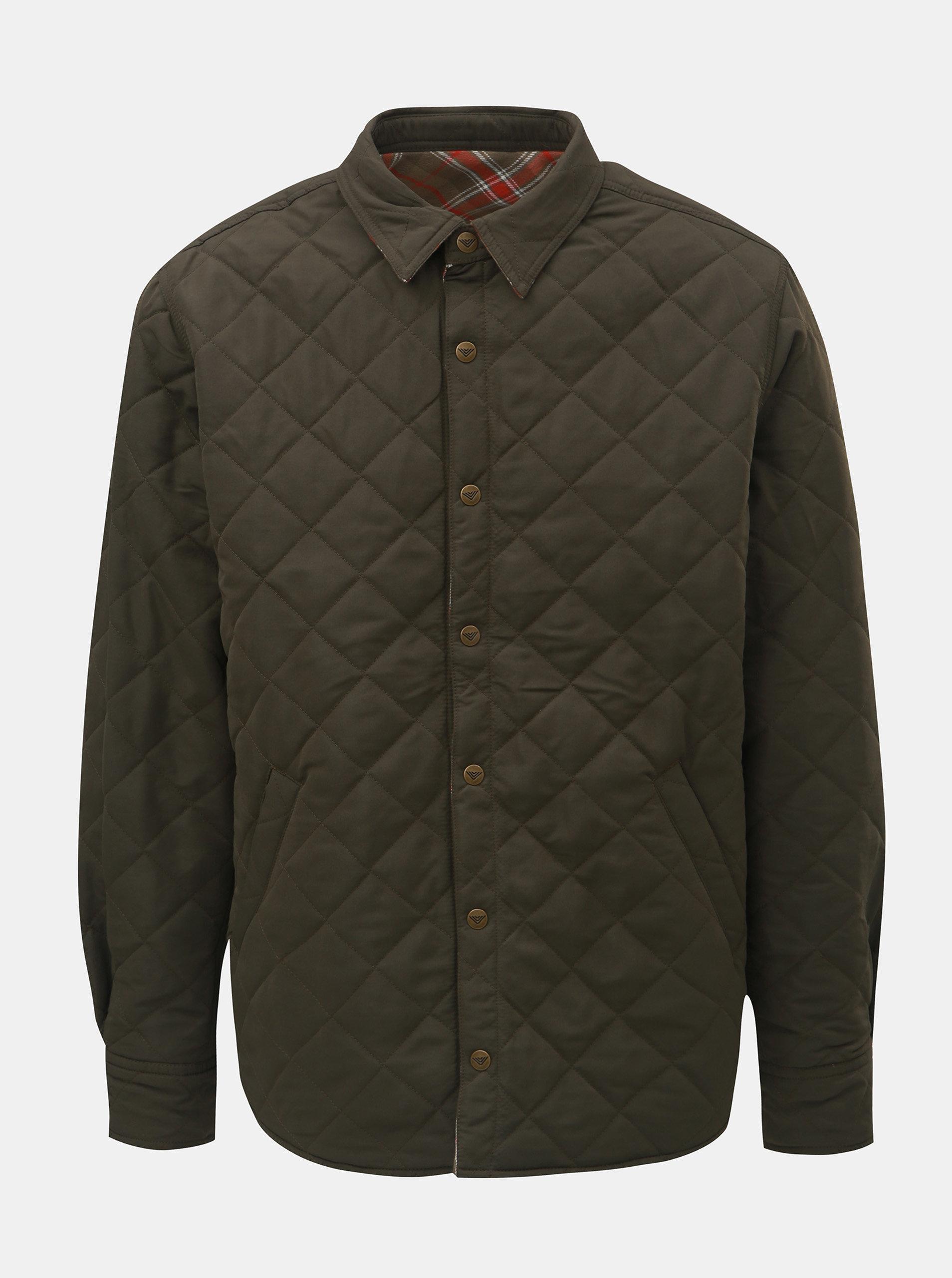 Khaki pánská kostkovaná oboustranná bunda BUSHMAN Falkirk ... 5a637d78f1