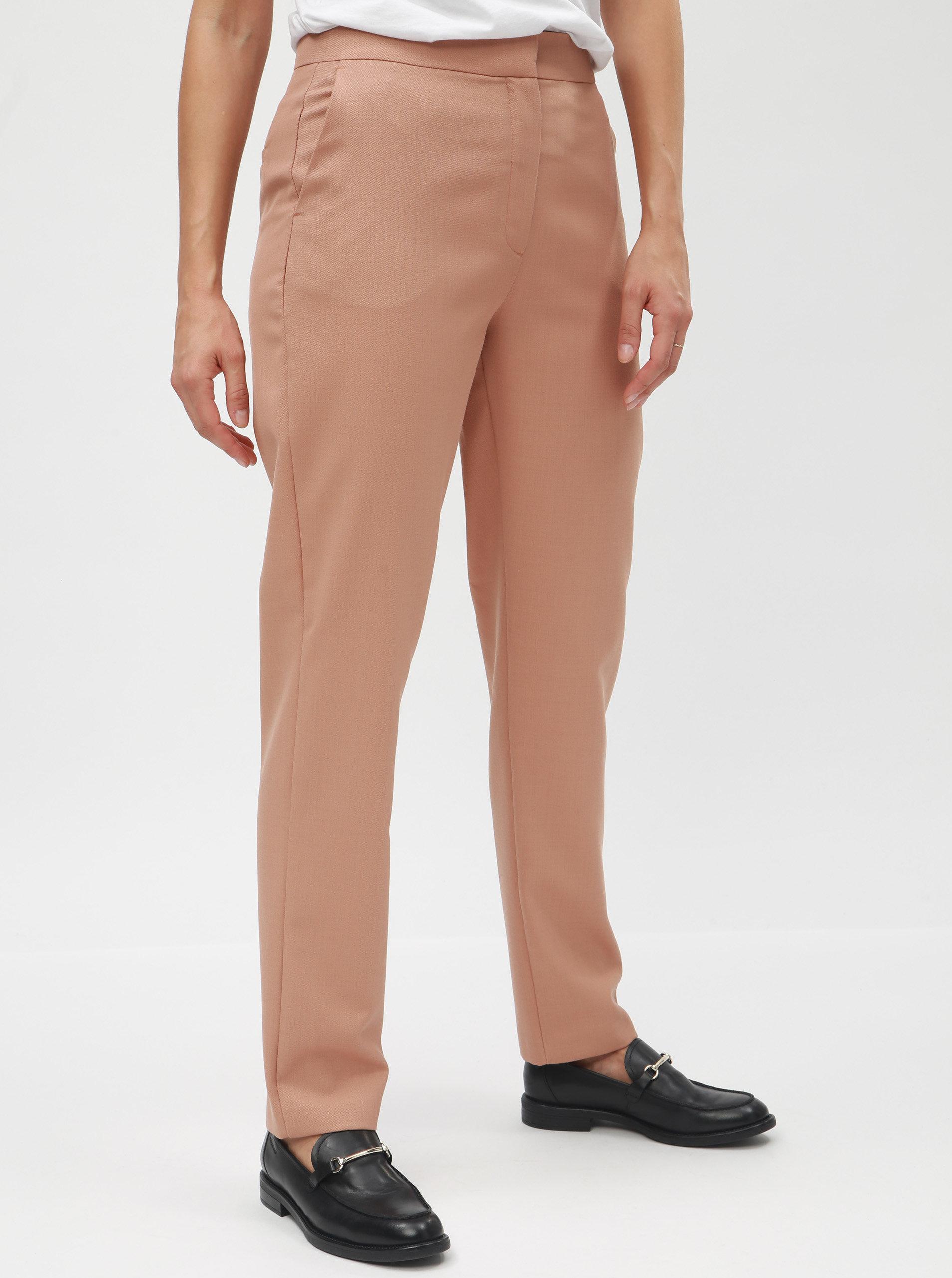 46a9933a0c8 Starorůžové vlněné chino kalhoty Selected Femme Gracina ...