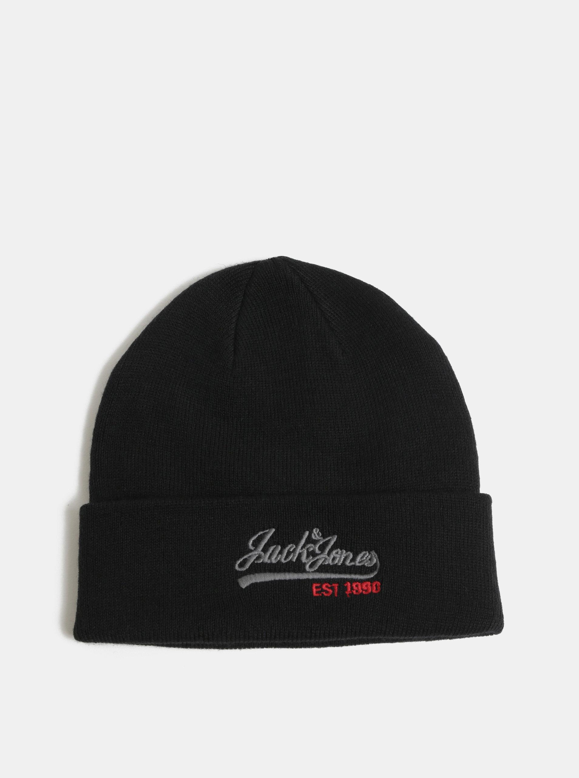 0e05ca8b4e18 Čierna čiapka s výšivkou loga a prímesou vlny Jack   Jones ...