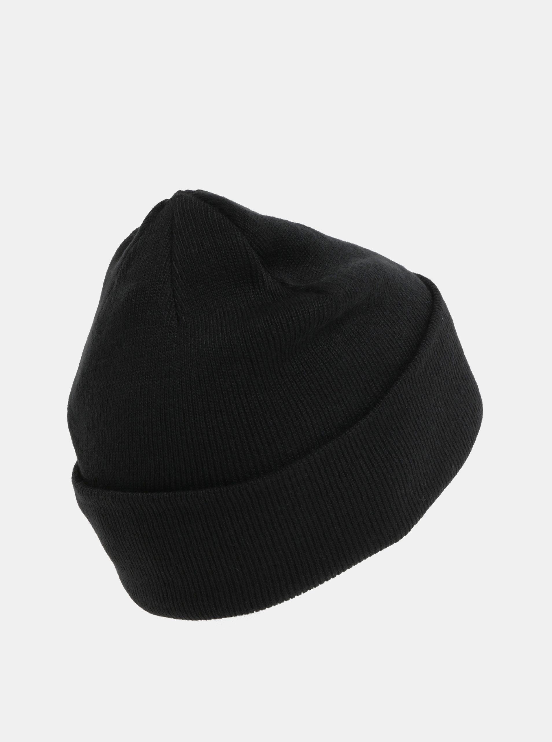 Černá čepice s výšivkou loga a příměsí vlny Jack   Jones ... 12dc0310cc