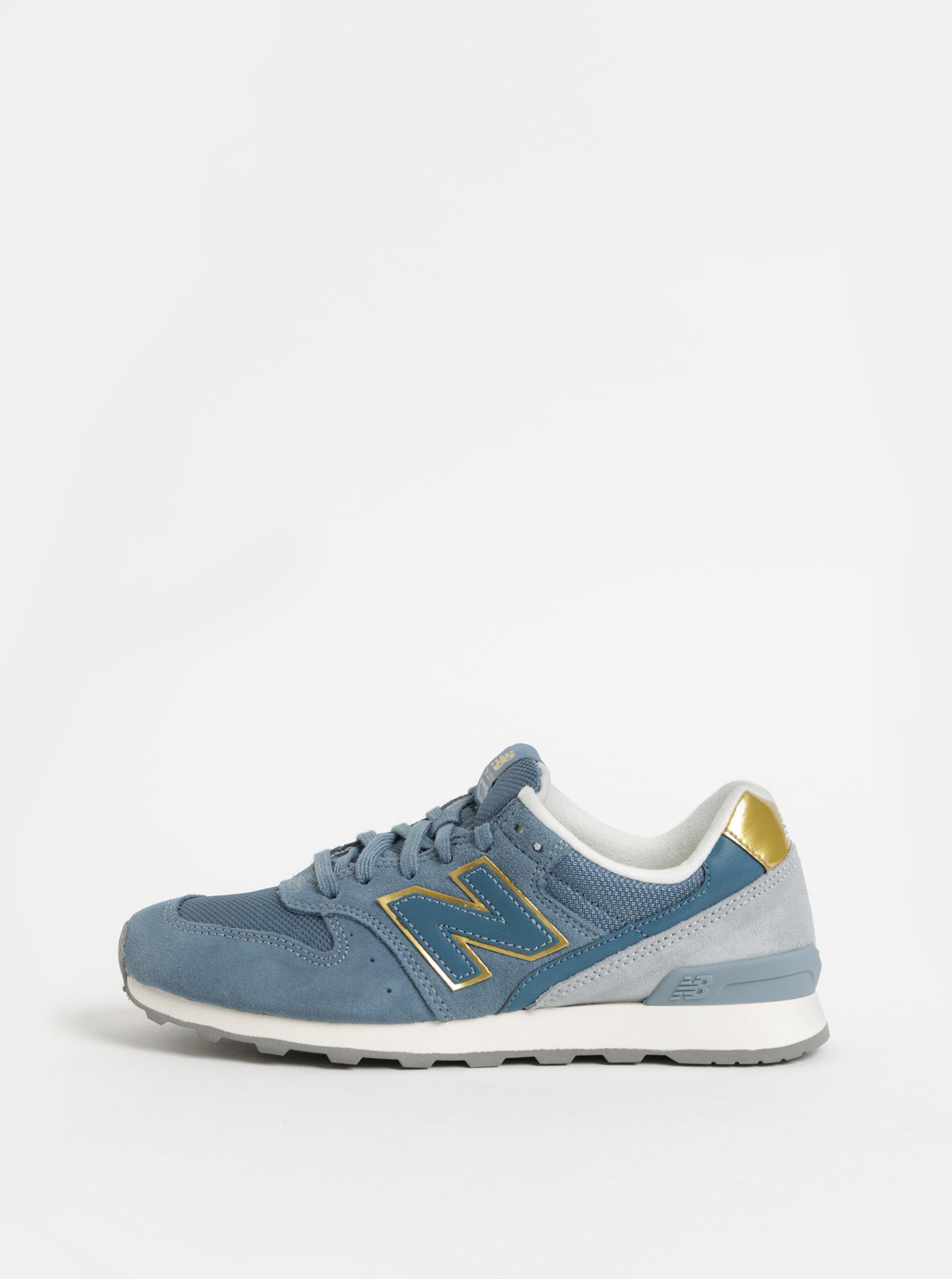 Světle modré dámské semišové tenisky New Balance ... c516a4a609