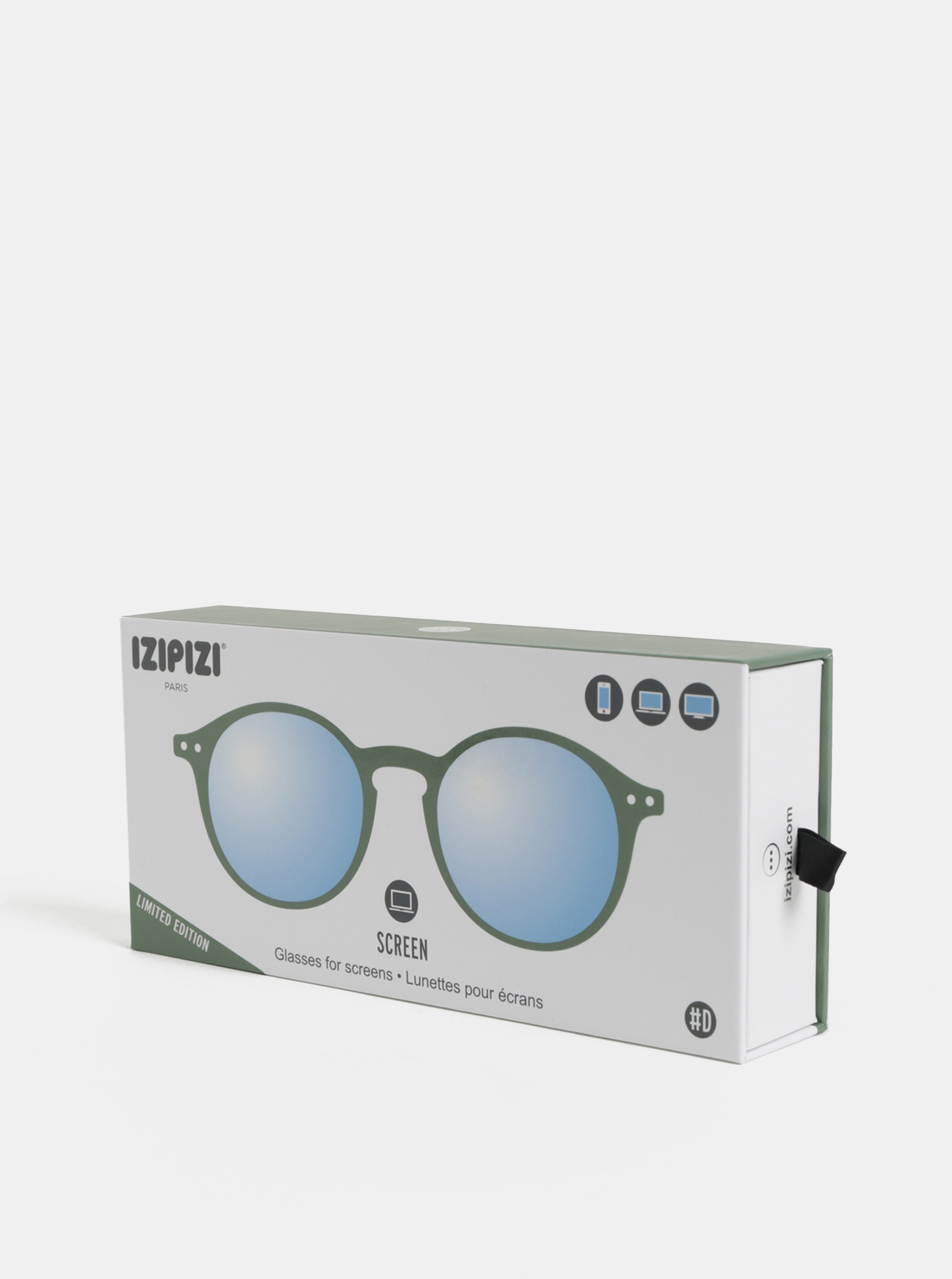 Zelené unisex ochranné okuliare k PC IZIPIZI  D ... 420b6a69aa7