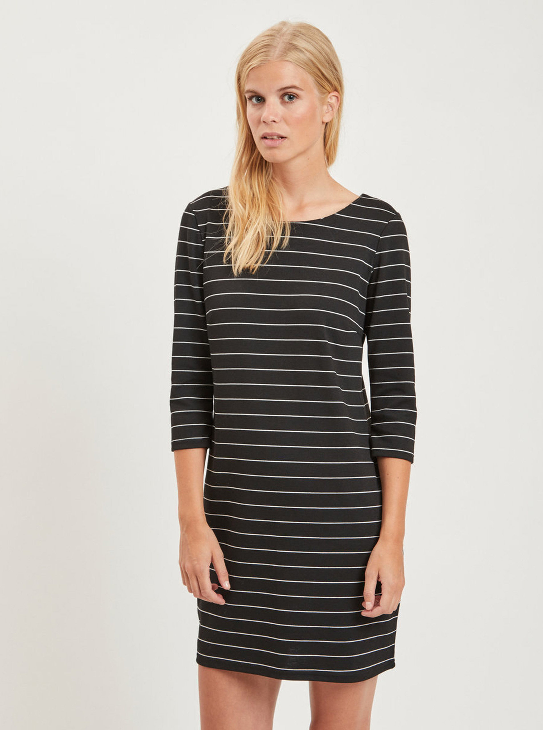 c2f785a7555b Černé pruhované šaty VILA Tinna ...
