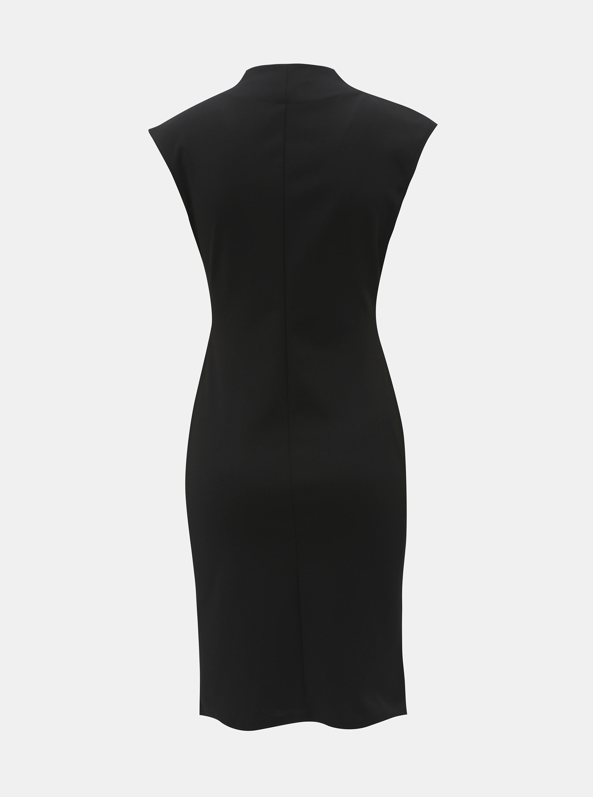 65e8a4fc6e1 Černé pouzdrové šaty s řasením na bocích Dorothy Perkins Riley ...