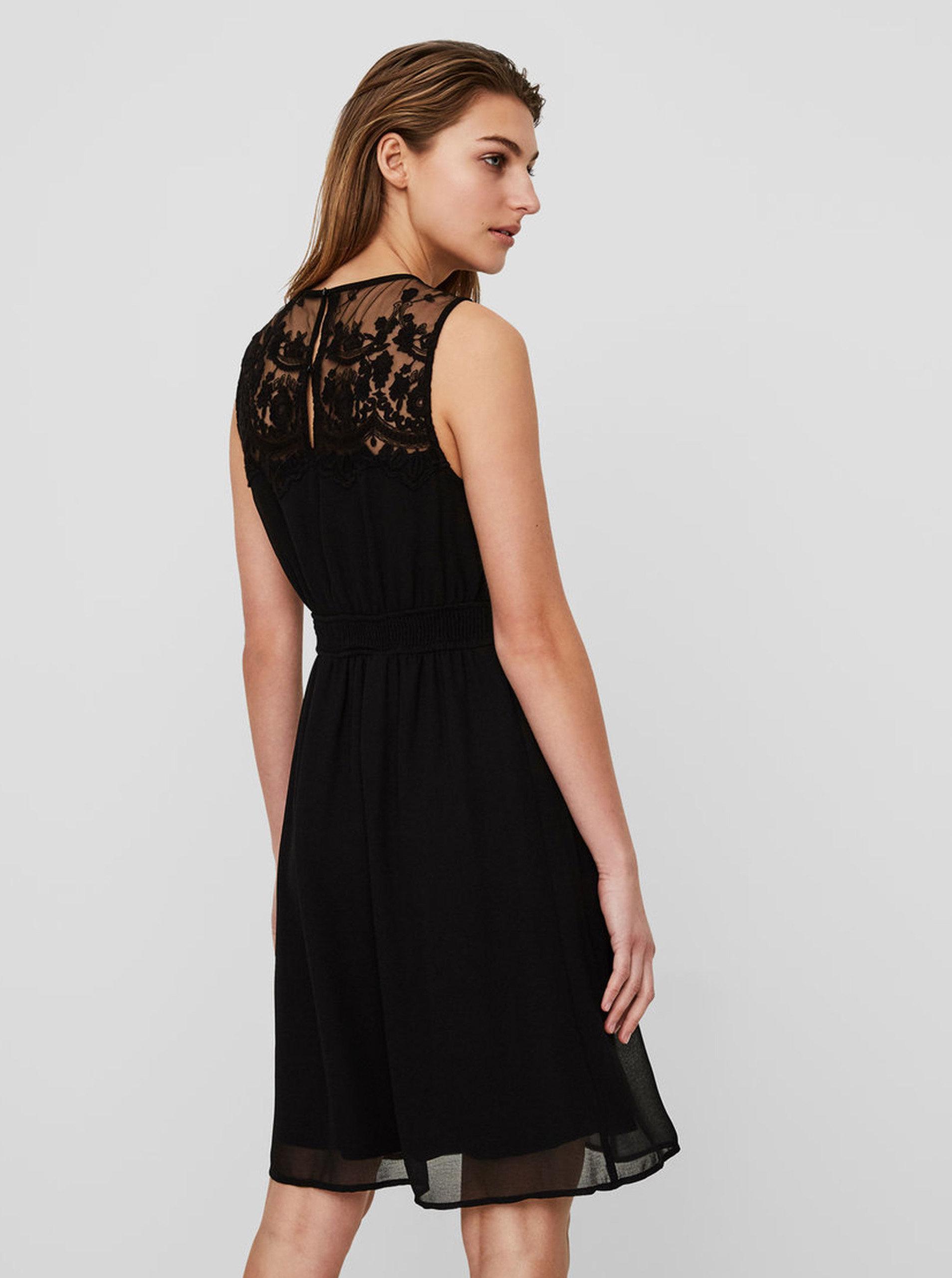 b331c1c3d902 Čierne šaty s čipkou VERO MODA Vanessa ...