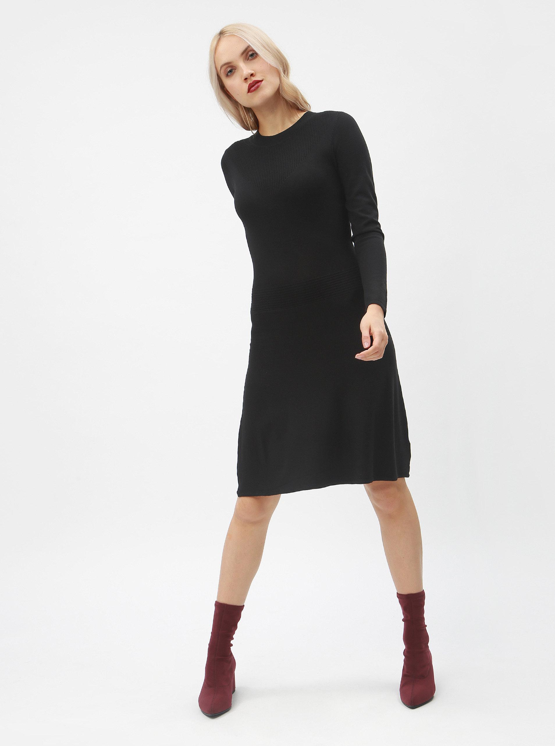 46e4ea5dd9c9 Čierne svetrové šaty Dorothy Perkins ...