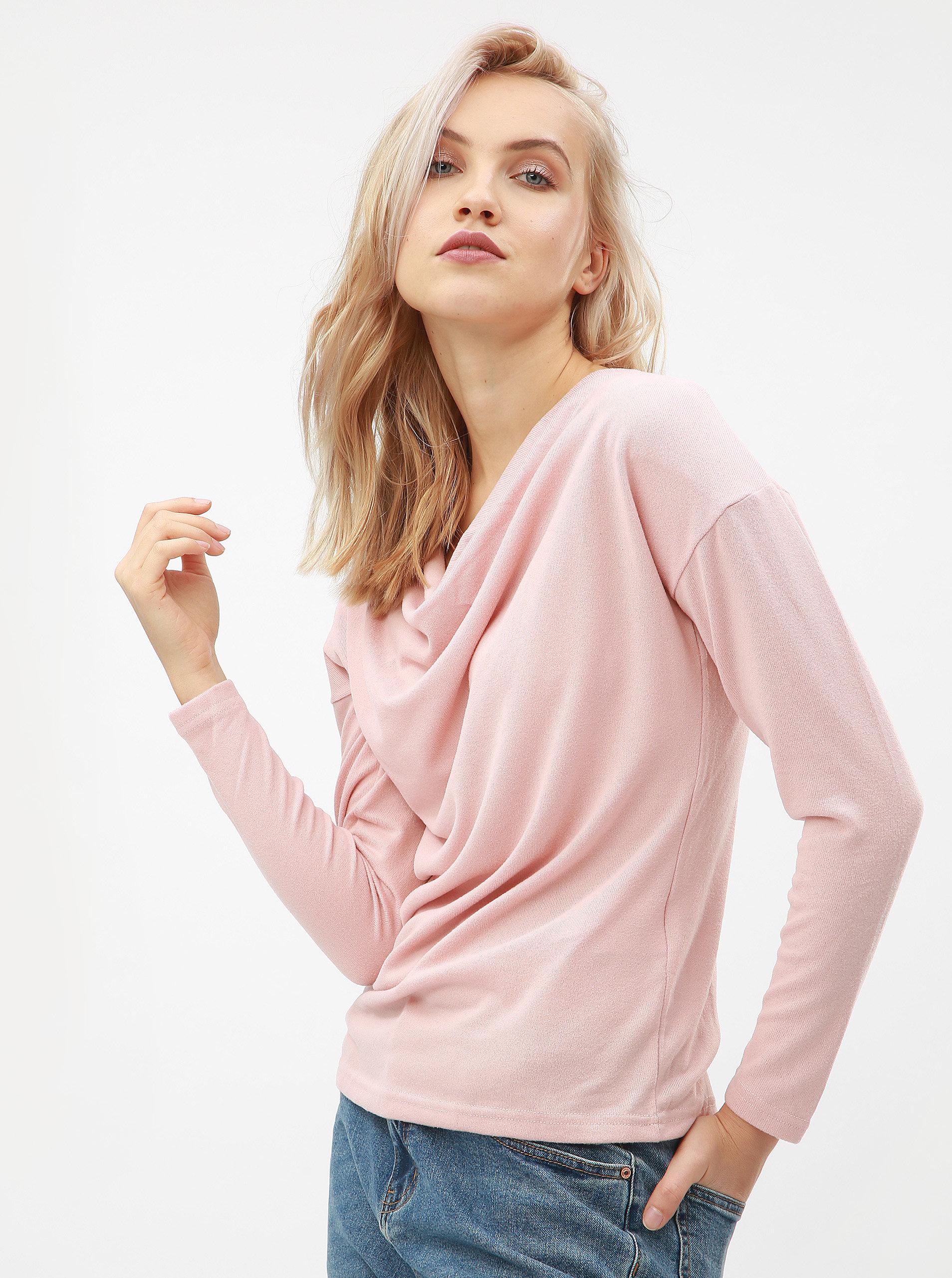 1c4dd0c71ac3 Ružový sveter s dlhým rukávom ONLY Elcos ...