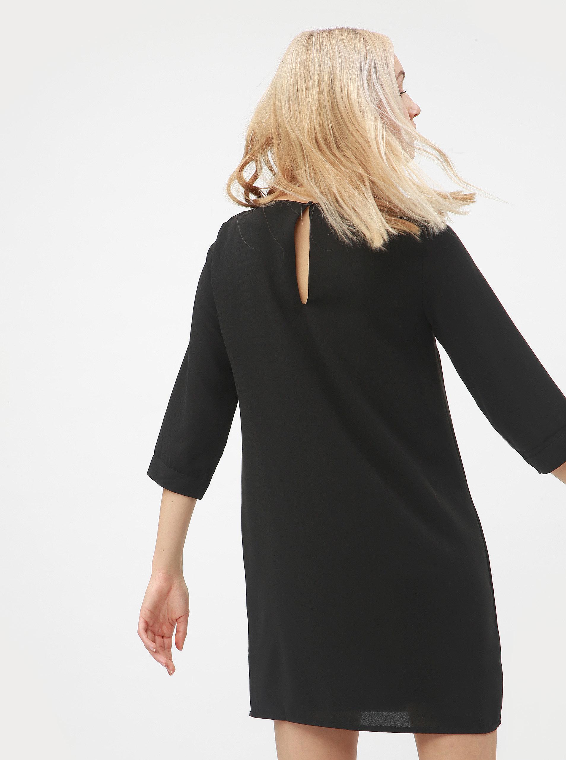 ca19552e8f6 Černé šaty s 3 4 rukávem VERO MODA Gabby ...