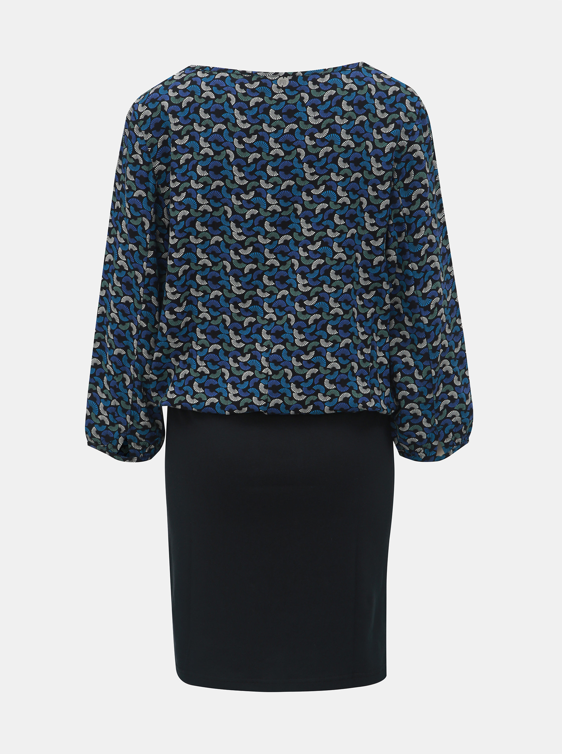 415c48af786e Čierno–modré vzorované šaty s 3 4 rukávom Tranquillo Macha ...