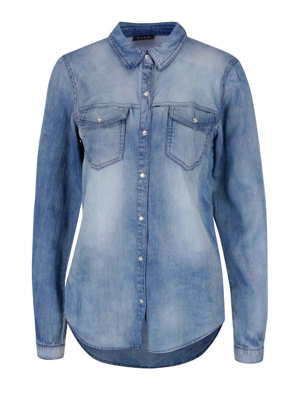 5cdad4e3327 Modrá džínová košile s dlouhým rukávem VILA Bista ...