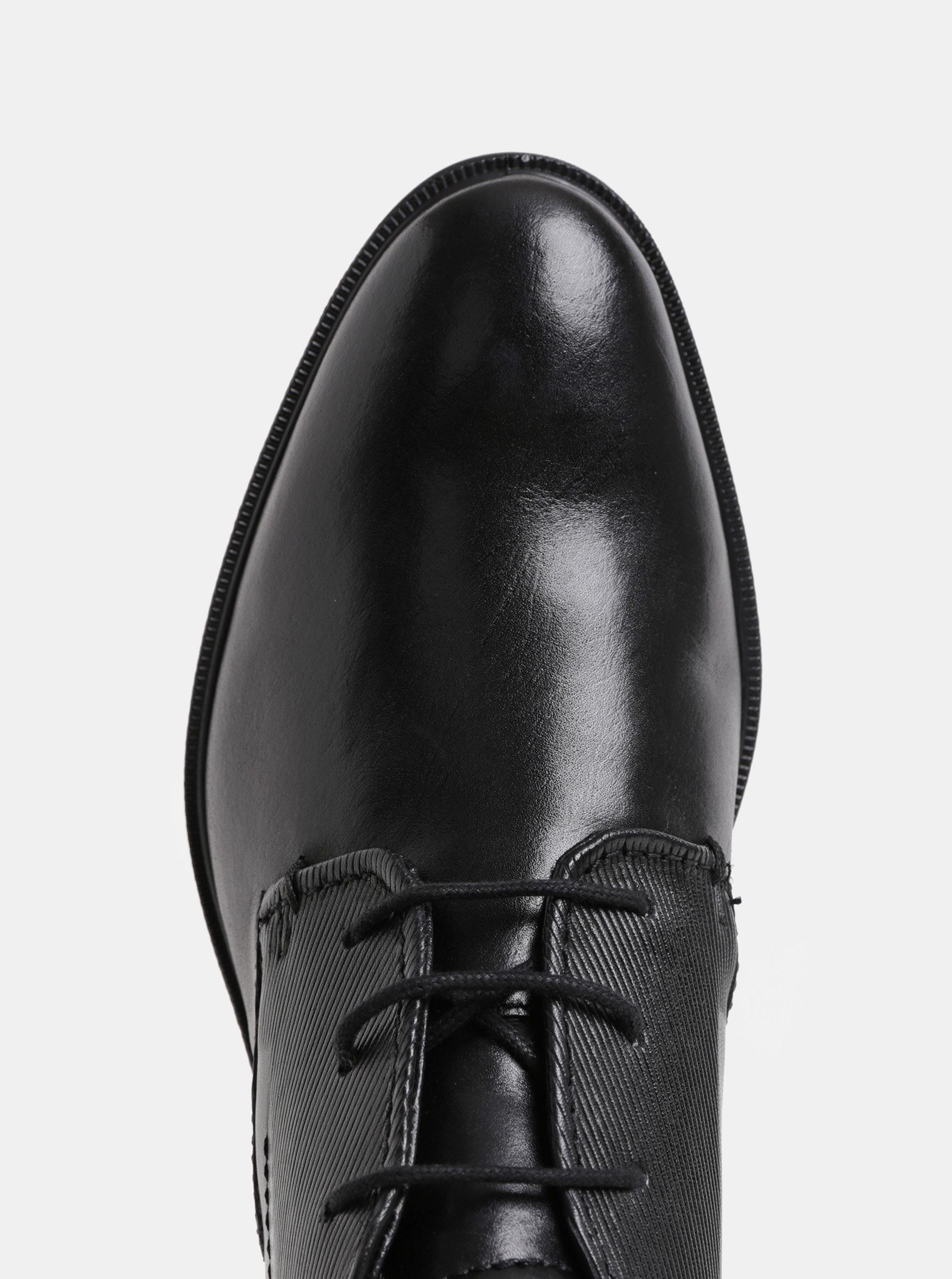 57bddd365e Čierne pánske kožené členkové topánky bugatti Leolo ...