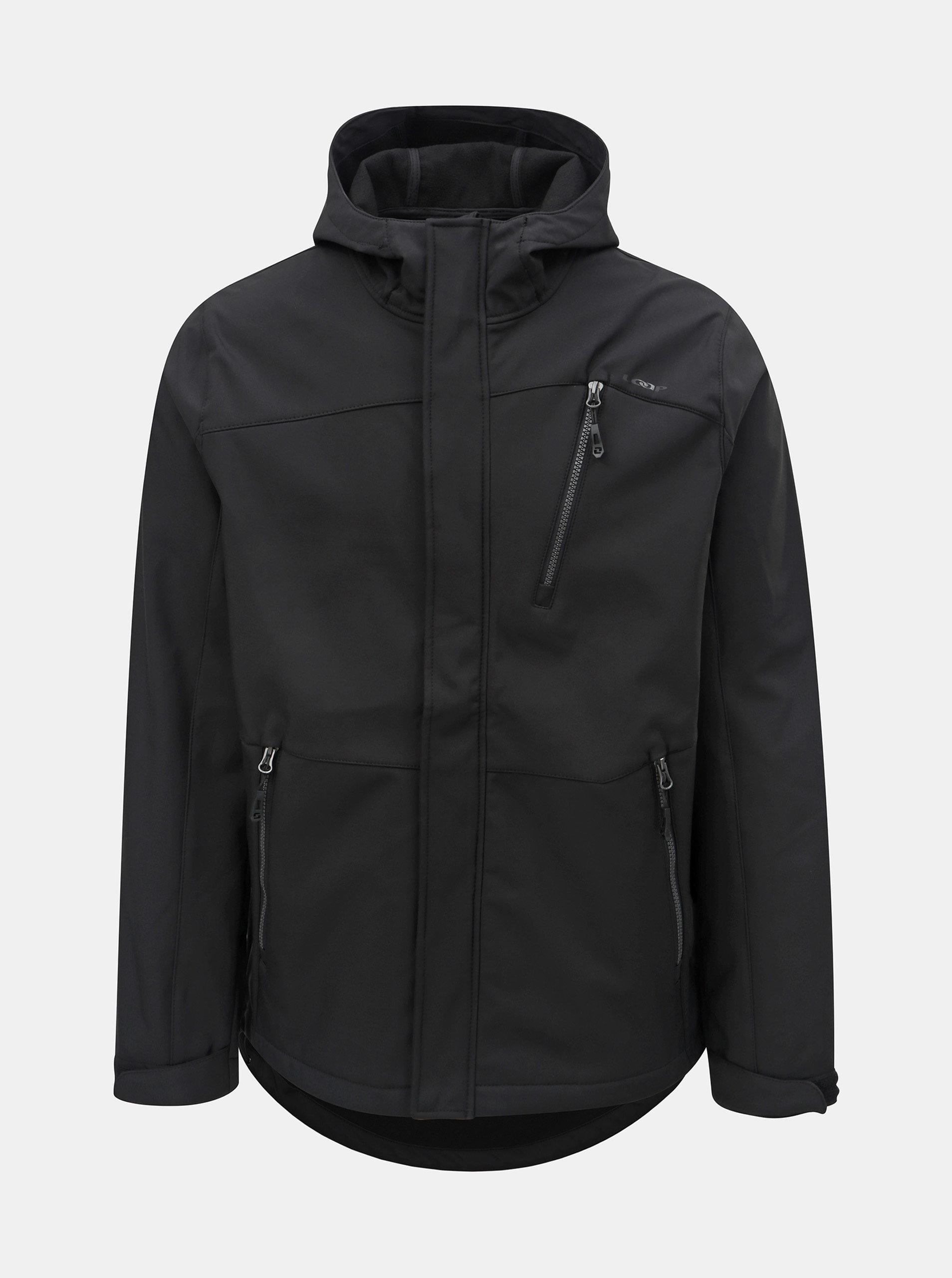 Černá pánská softshellová nepromokavá bunda s kapucí LOAP Lombard ... c328882604