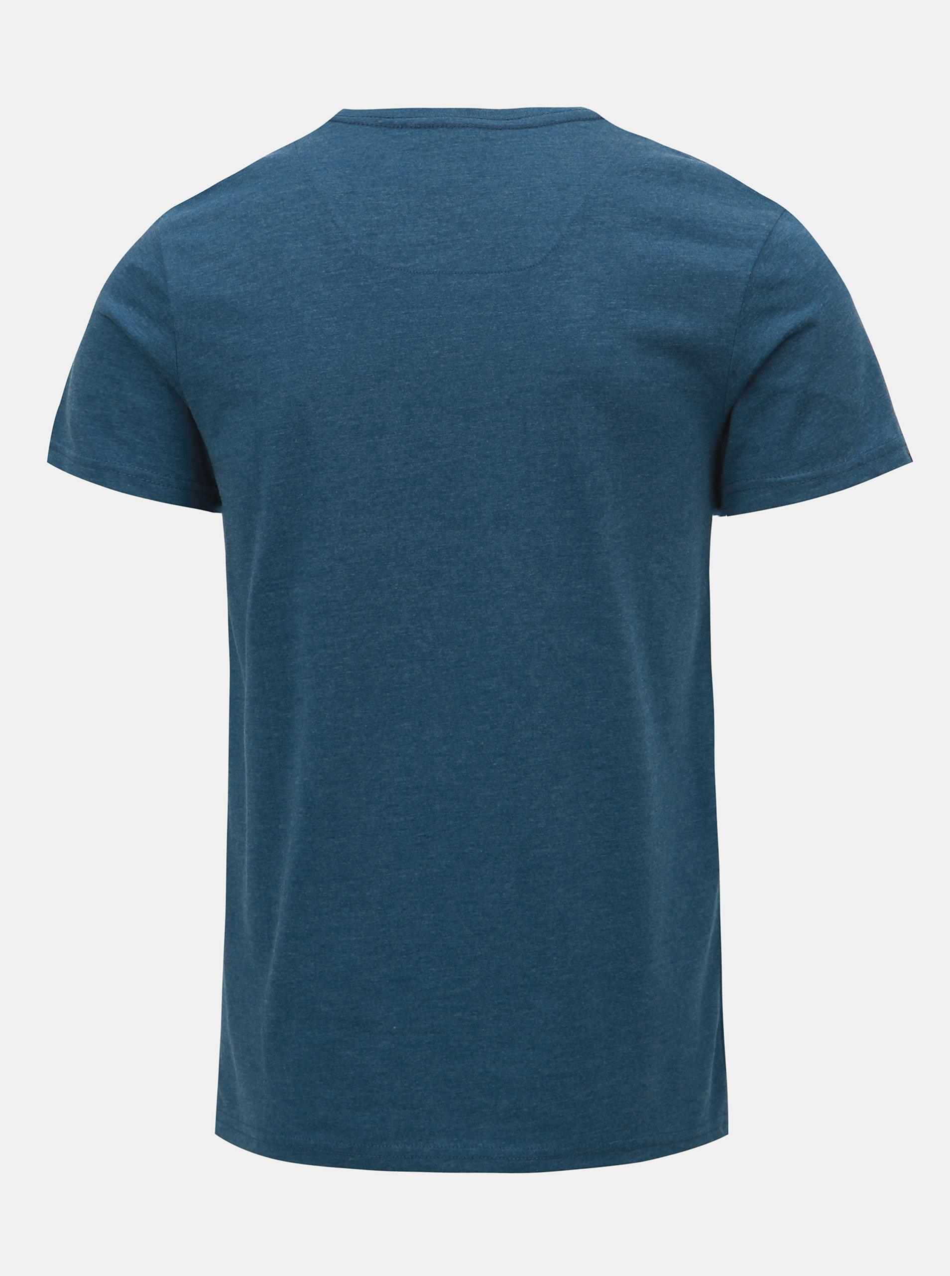 f64e7e4b7555 Modré pánske melírované tričko LOAP Azro ...