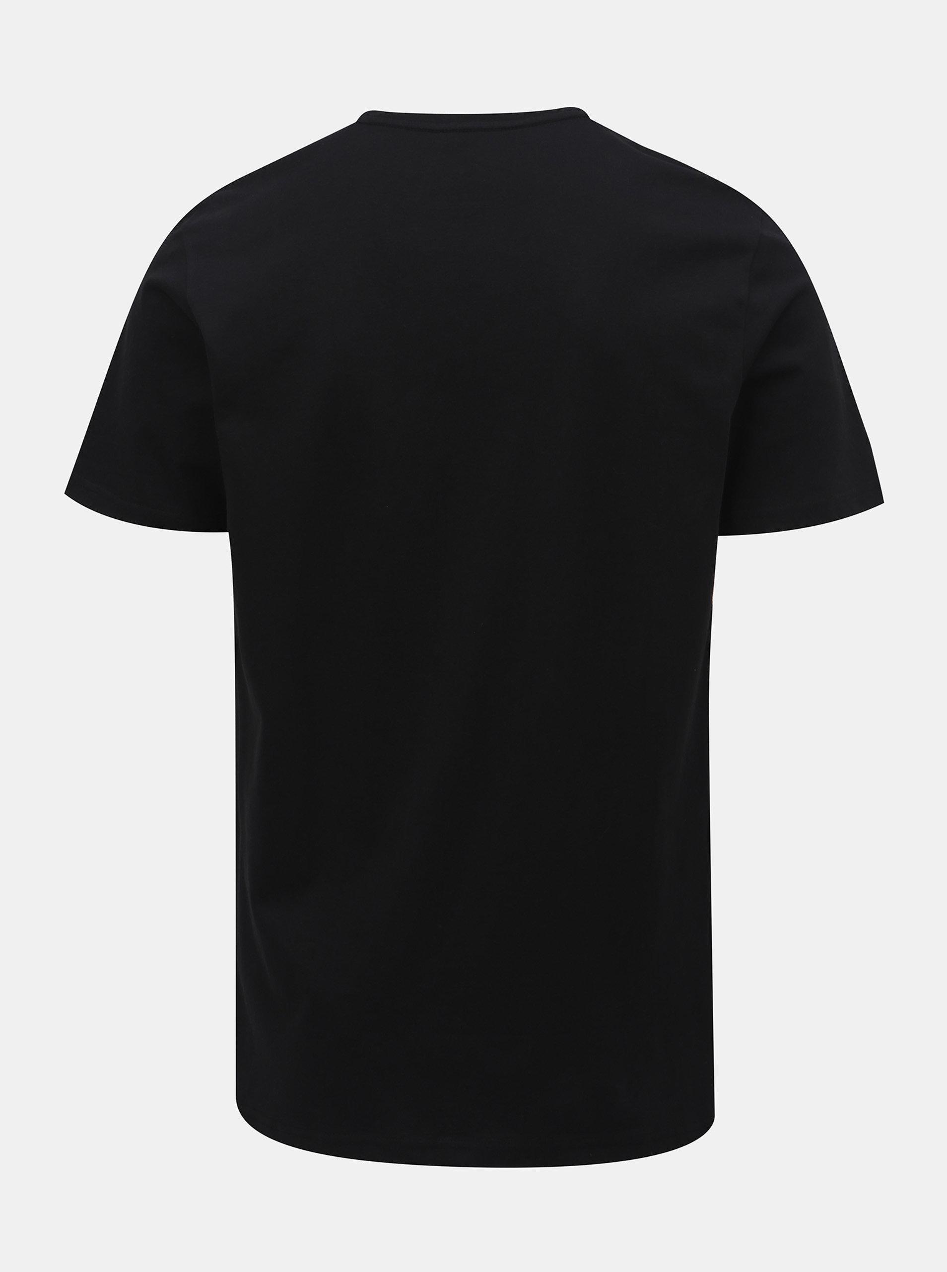 0655b21a2 Čierne pánske tričko s krátkym rukávom a potlačou LOAP Buson | ZOOT.sk