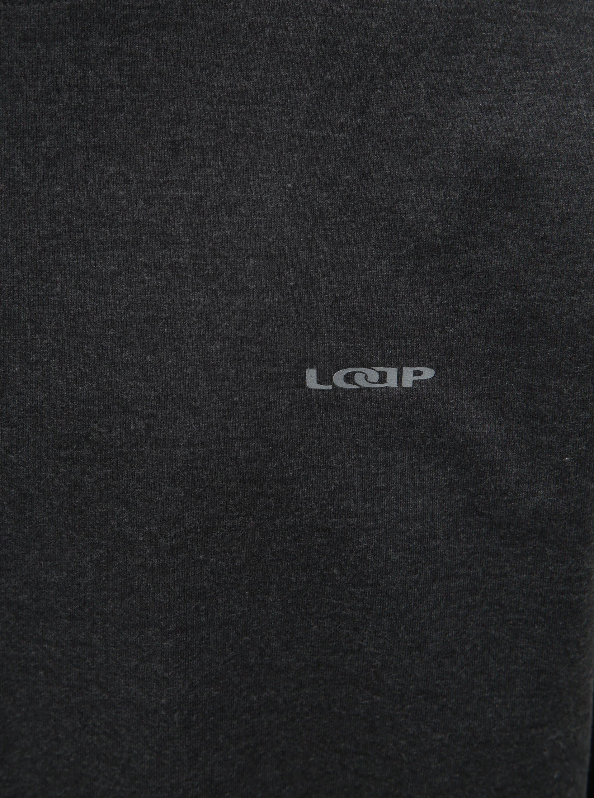 a2feba90c5 Tmavosivé pánske tričko s dlhým rukávom LOAP Babol ...