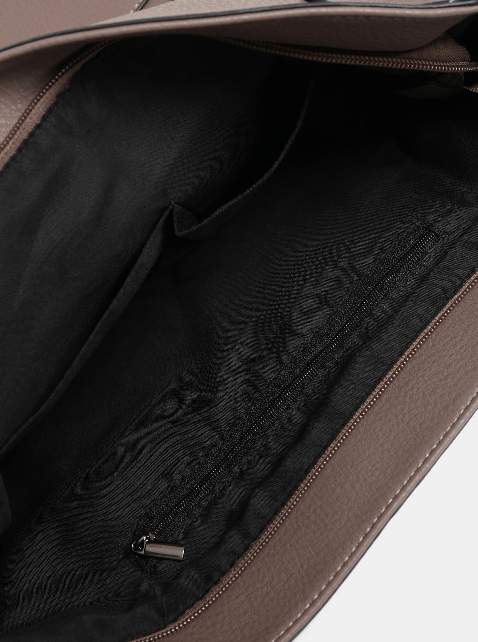 Hnedá veľká kabelka s kovovými detailmi Dorothy Perkins ... eec8f49f85a