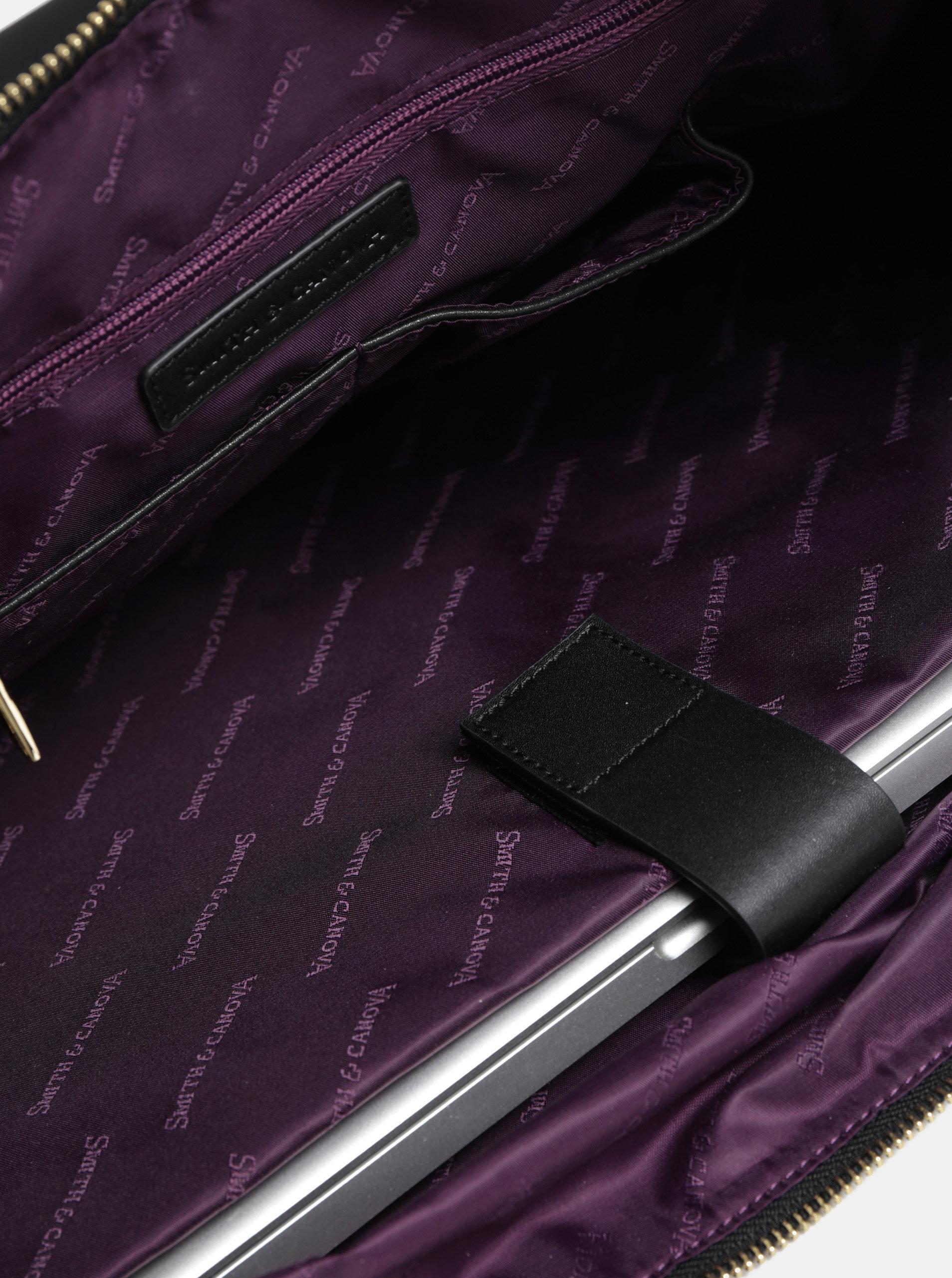 3f31c2c549 Čierna cestovná taška s vreckom na notebook Smith   Canova ...