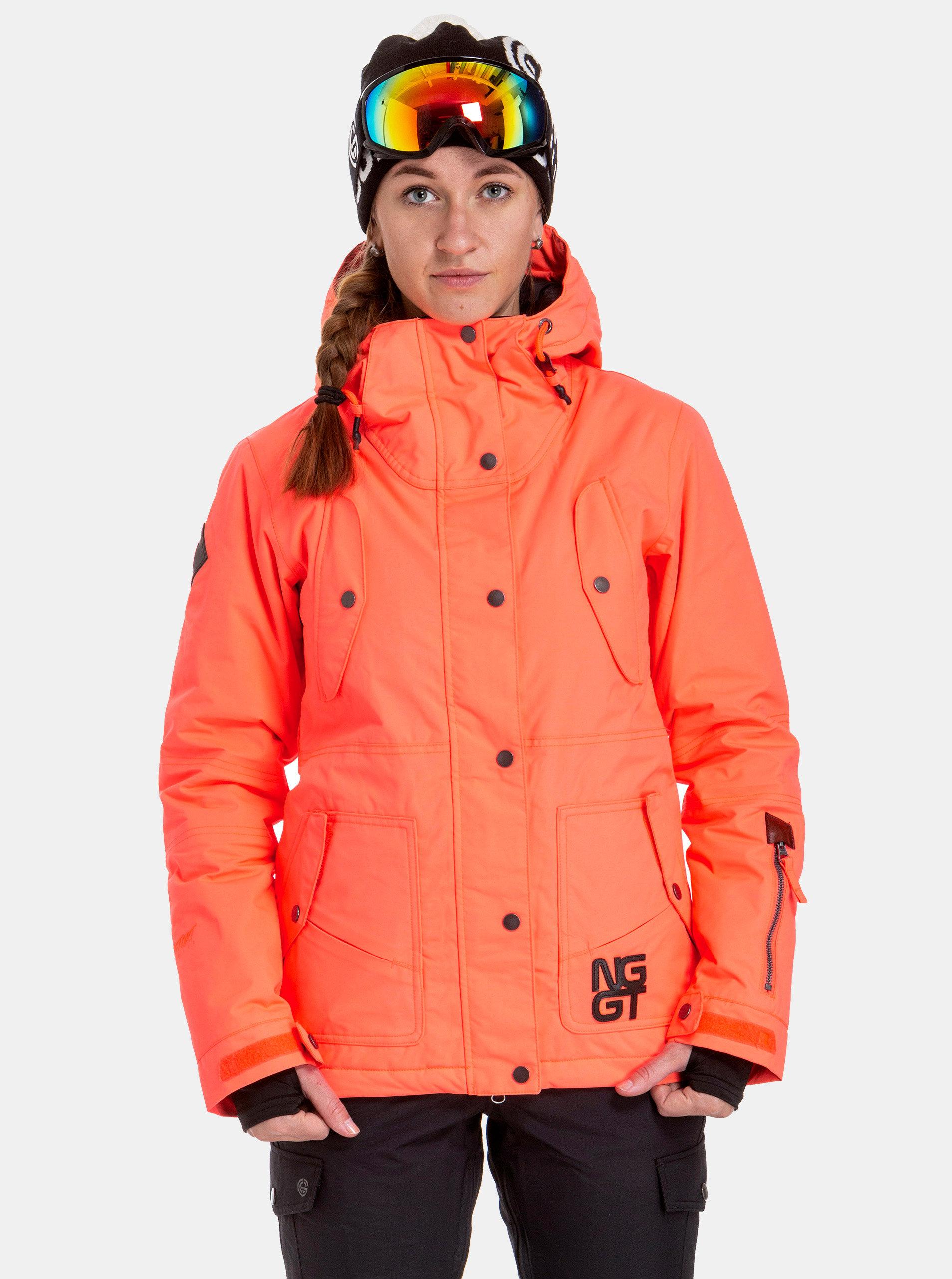 50bcdddcbe Neónovo–oranžová dámska nepremokavá snowboardová bunda NUGGET Anja ...