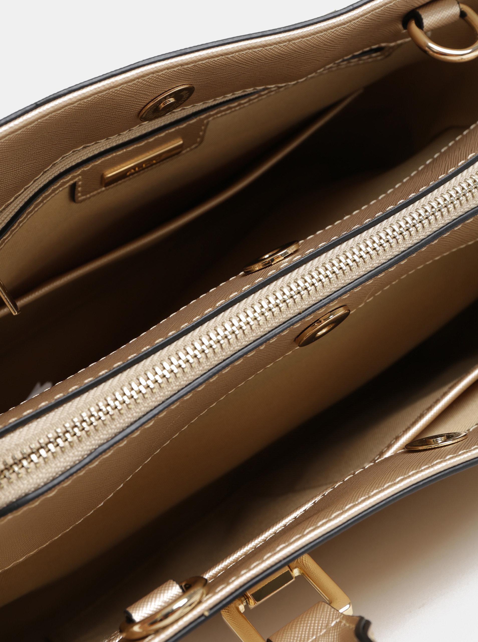 14f6590485 Kabelka ve zlaté barvě s odepínatelným popruhem ALDO Legoiri ...