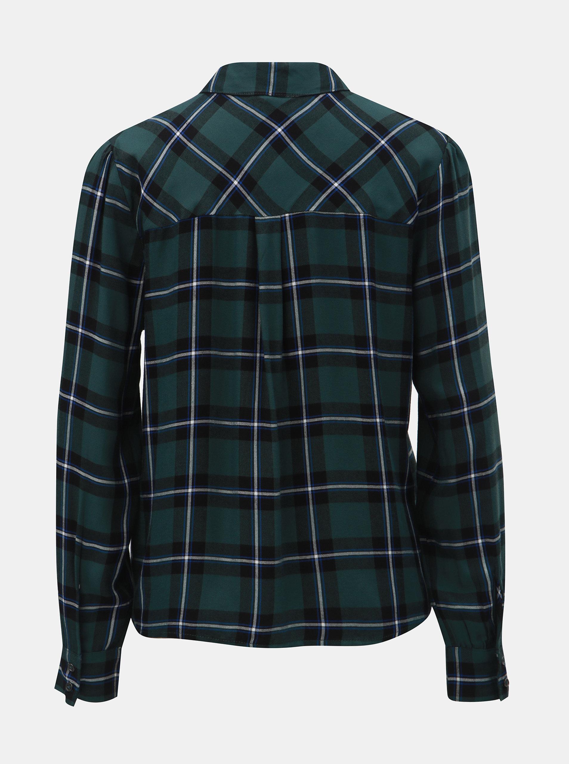 cce6b09f0a78 Čierno–zelená károvaná košeľa ONLY ...