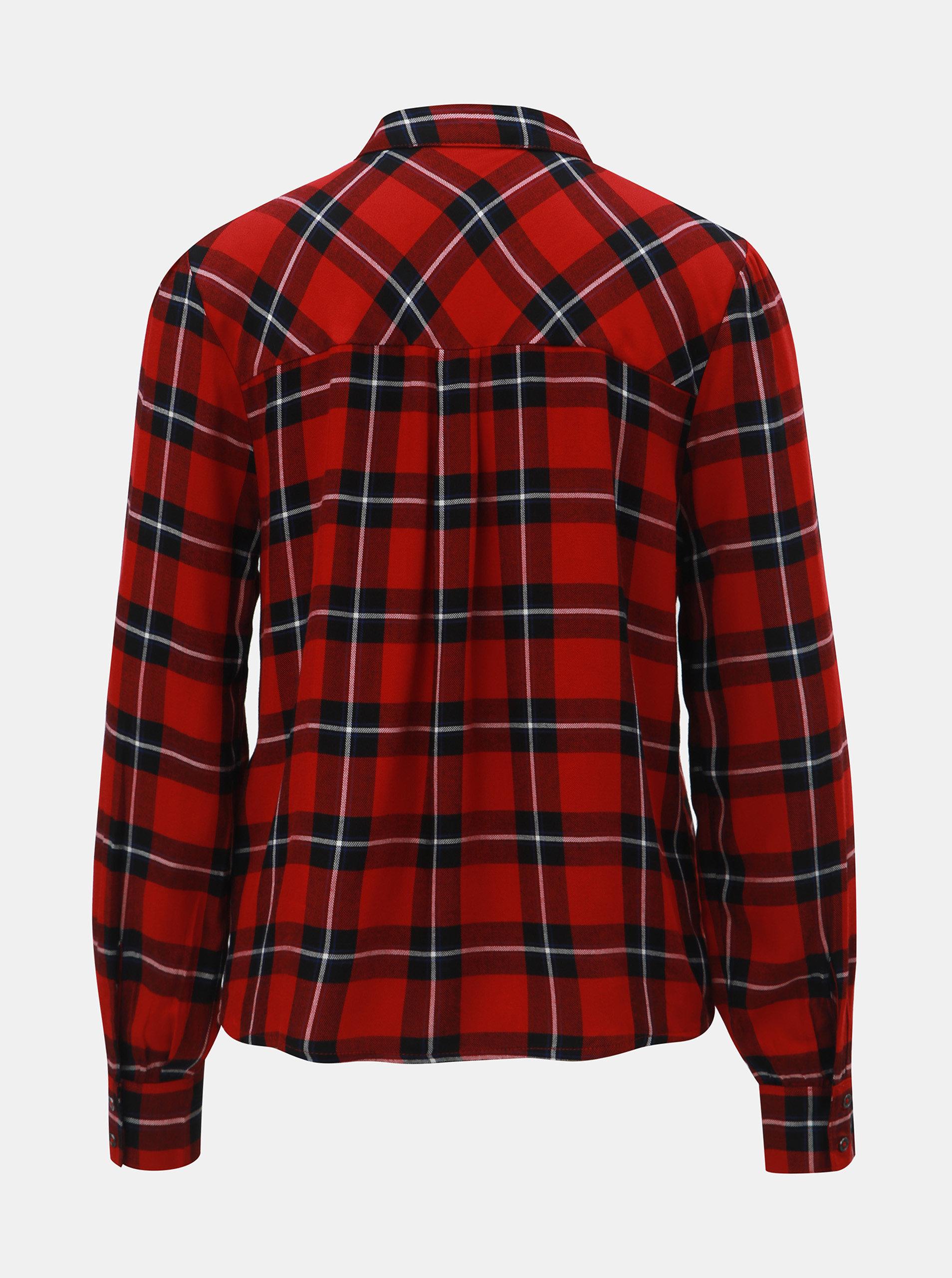 b81bf6a80cb5 Čierno–červená károvaná košeľa ONLY ...