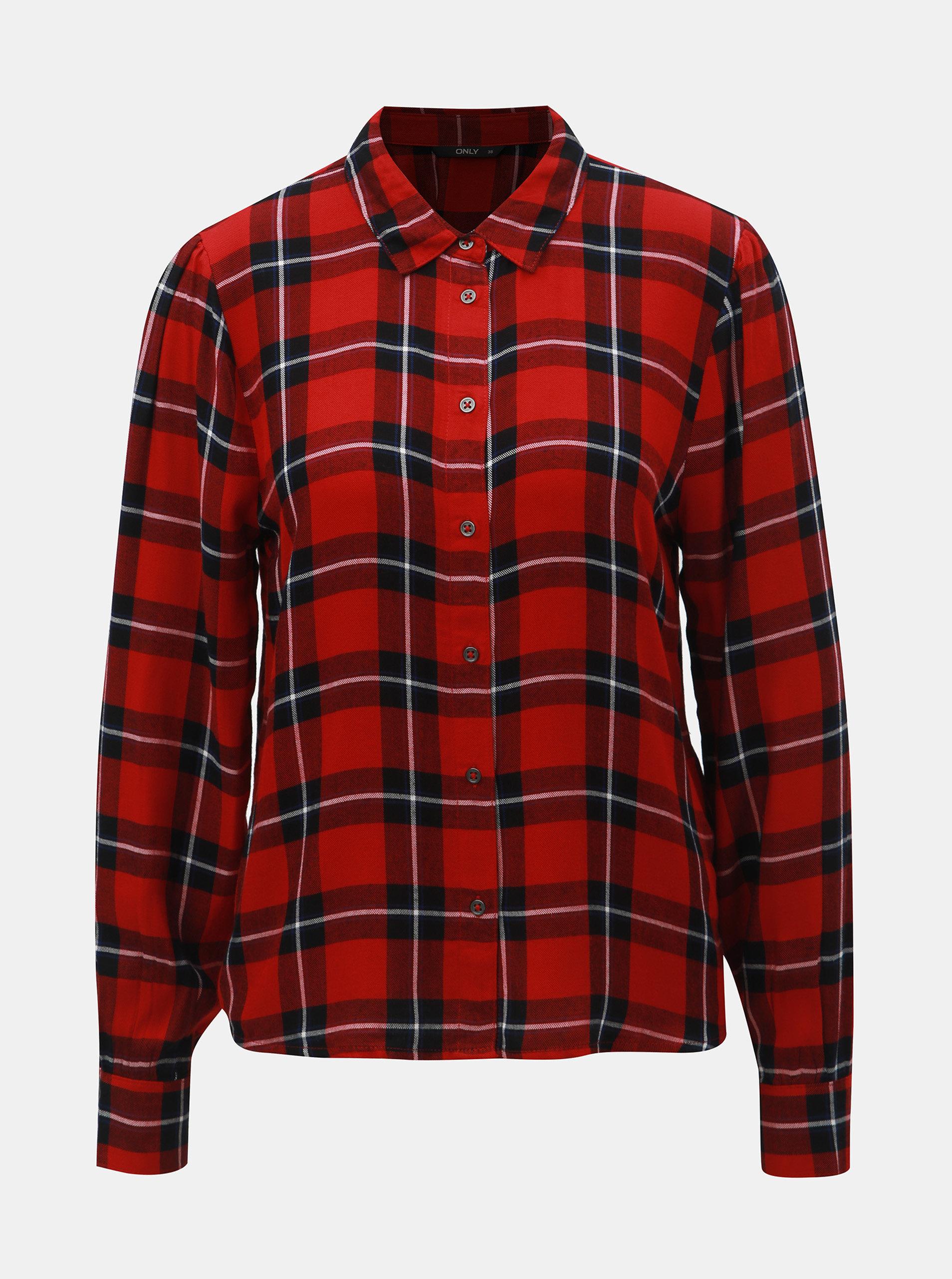 67abf6cf59e1 Čierno–červená károvaná košeľa ONLY ...