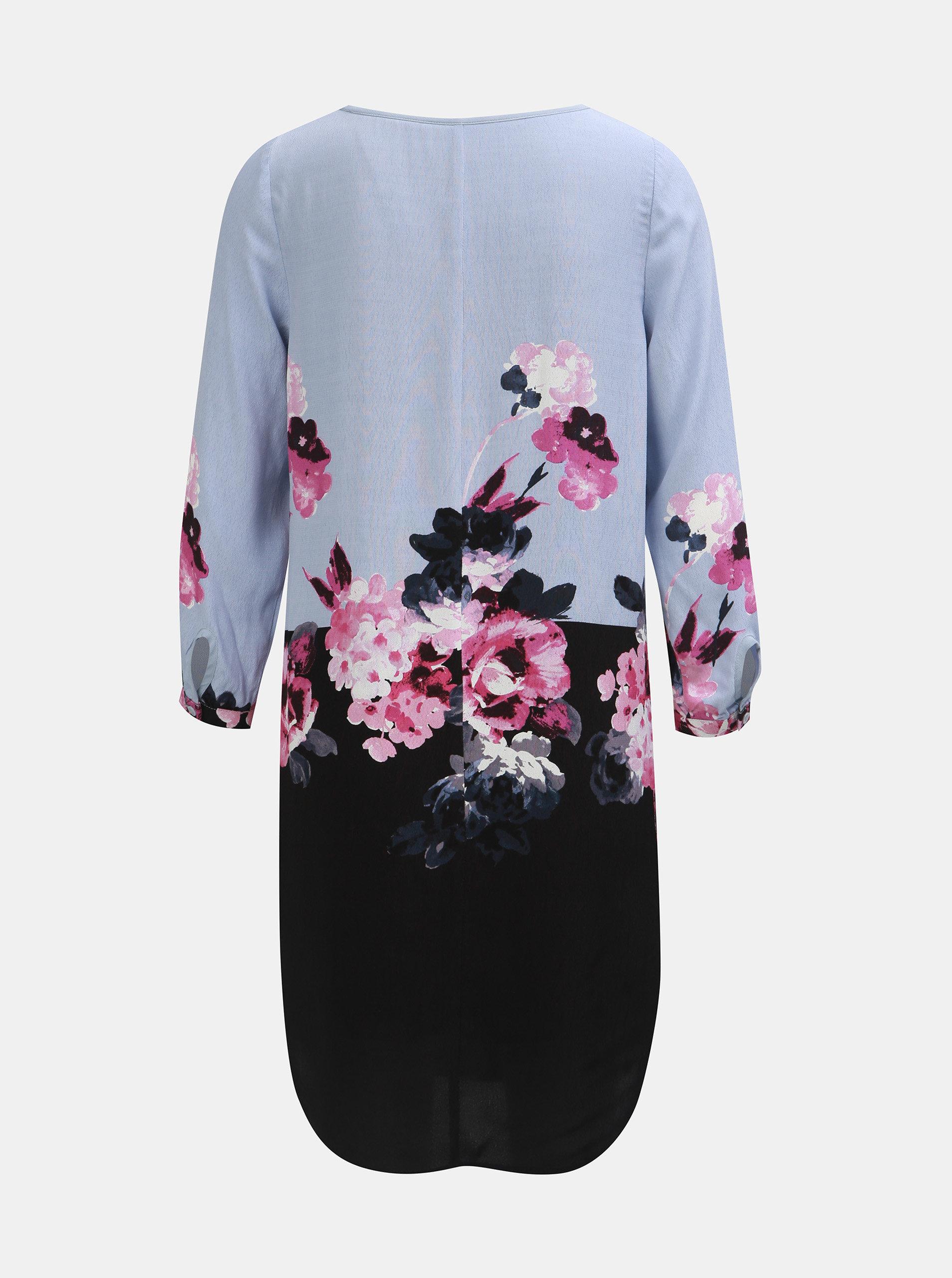 a21a200c8a09 Čierno–modré dámske kvetované šaty s 3 4 rukávom Tom Joule ...