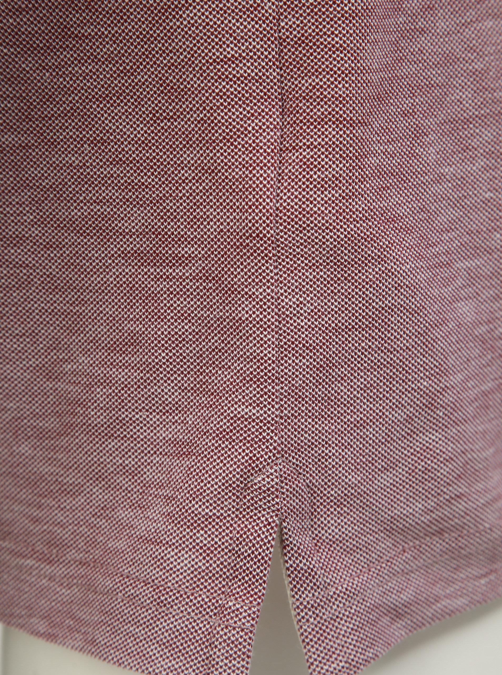 Vínová melírovaná polokošeľa s krátkym rukávom Farah Basel ... 11dbc7d2899