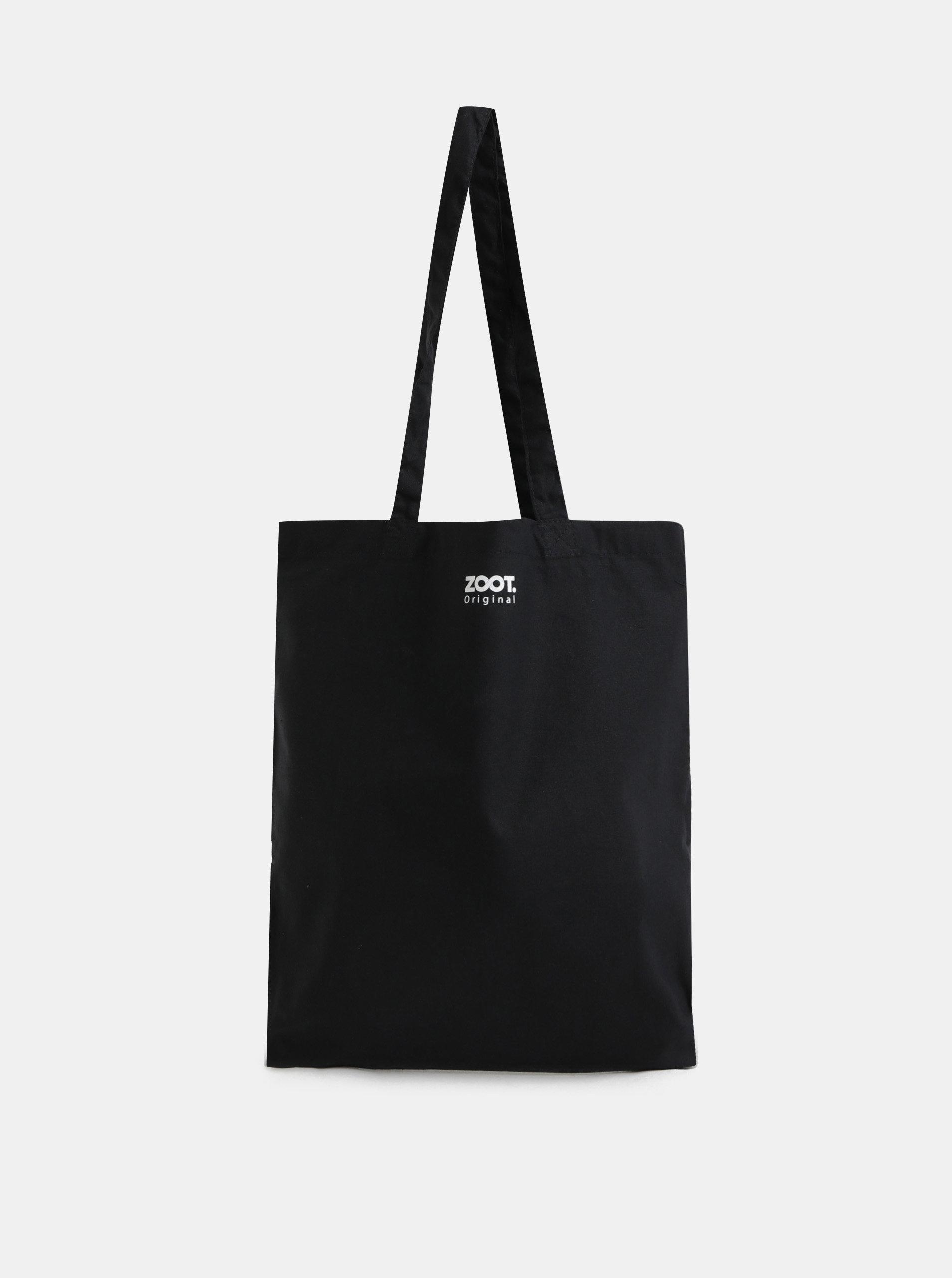 47d3b906d Černá plátěná taška s potiskem ZOOT Original Say no to plastic | ZOOT.cz