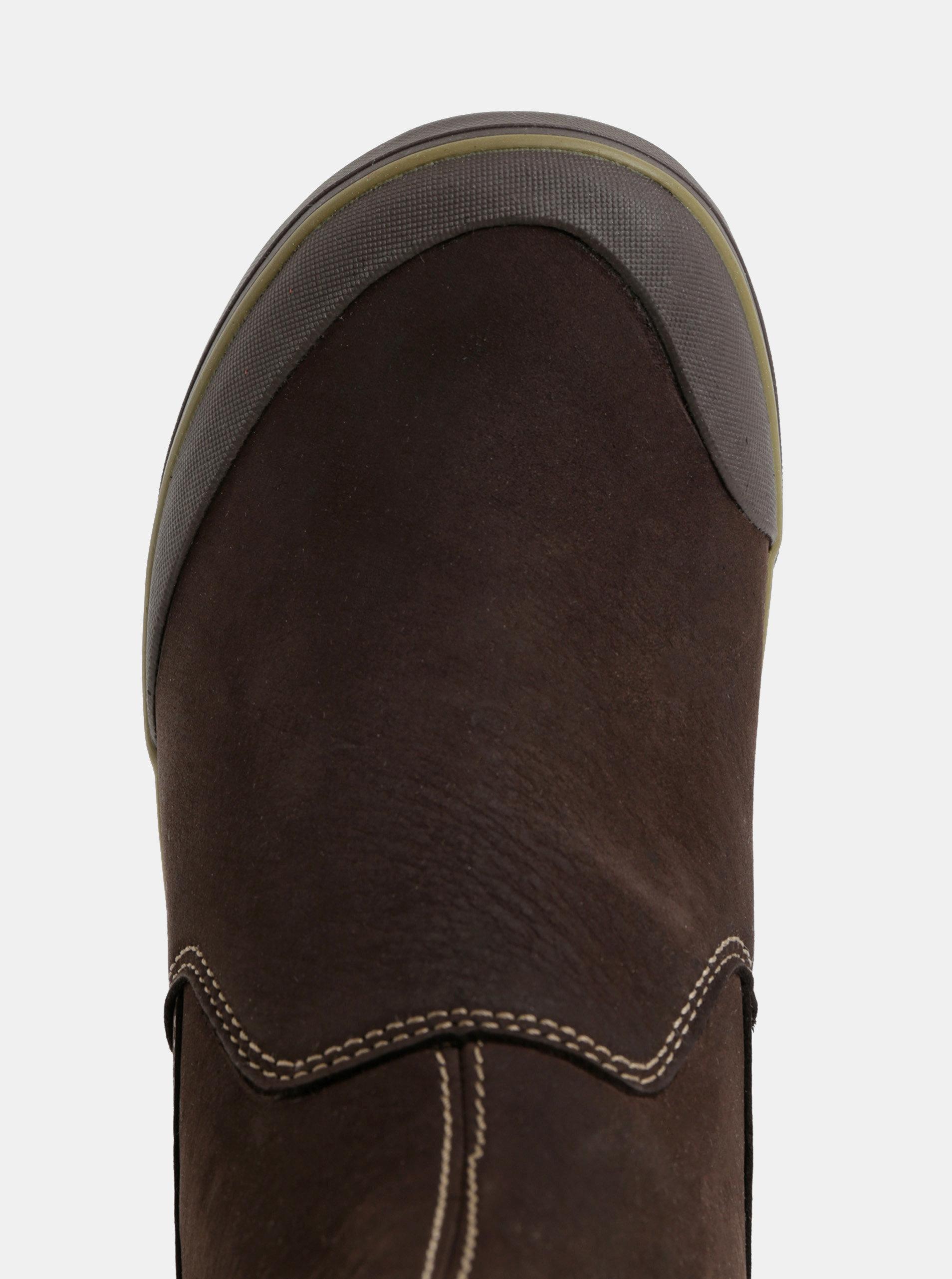 Tmavě hnědé dámské zimní chelsea boty Keen Elsa ... 288ef74d94