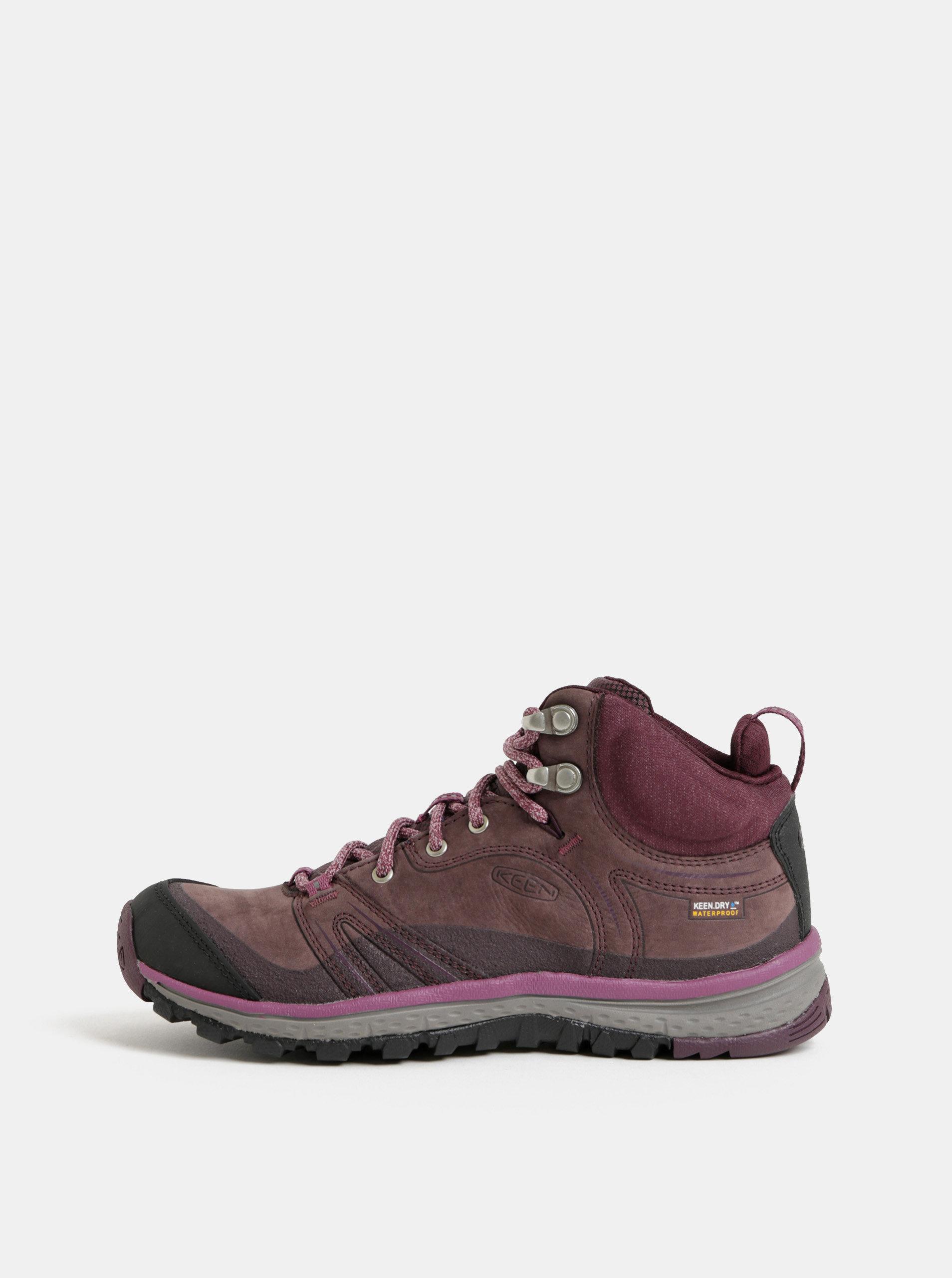 Fialové dámské kožené voděodolné kotníkové boty Keen Terradora ... 39df282255