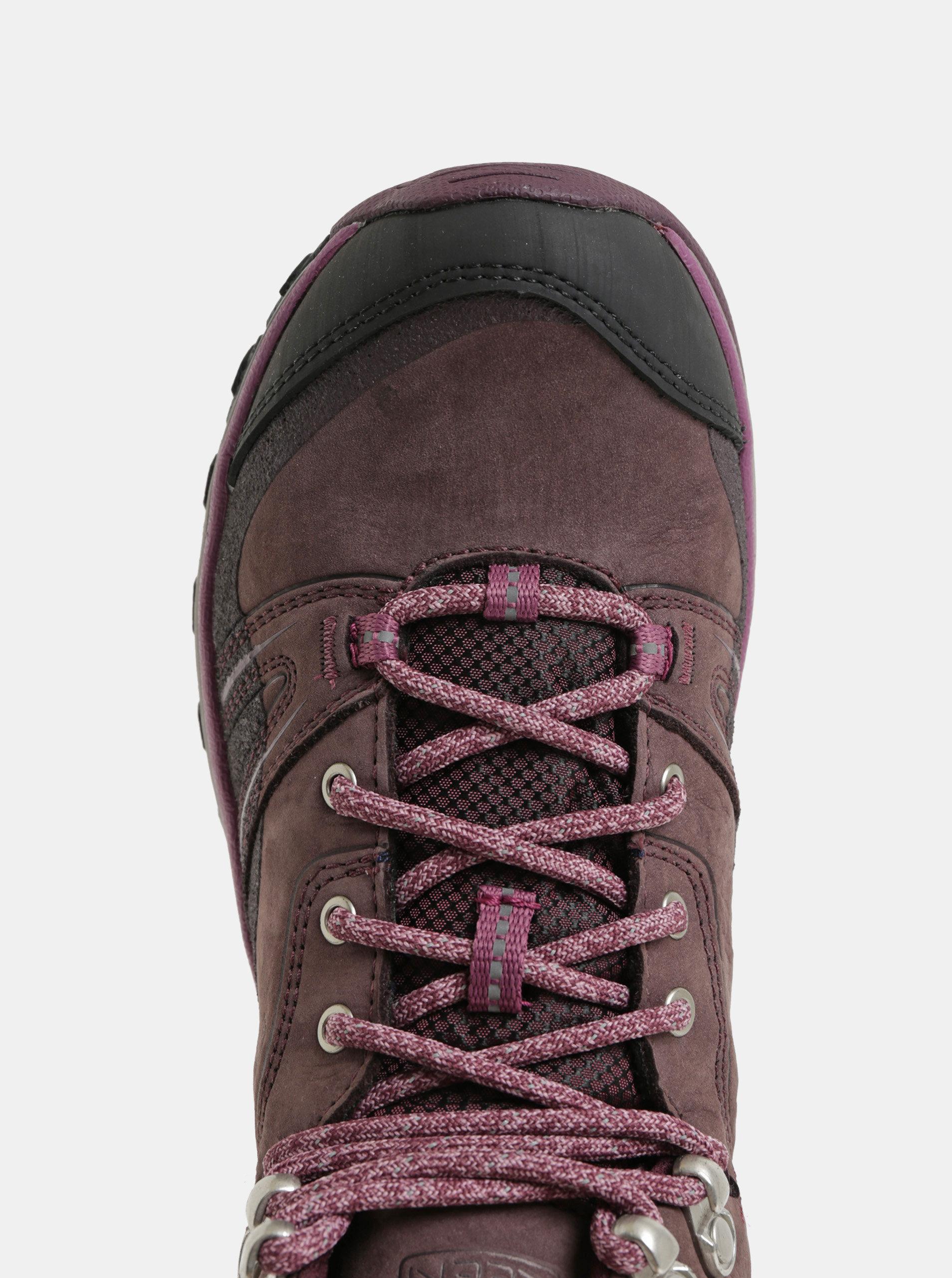 Fialové dámské kožené voděodolné kotníkové boty Keen Terradora ... 5efc5dedd7