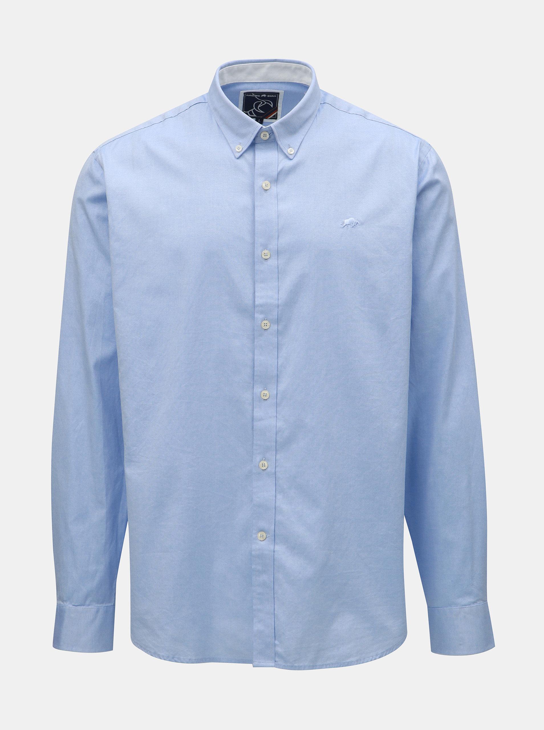 40429b99b3b Světle modrá košile s dlouhým rukávem Raging Bull ...