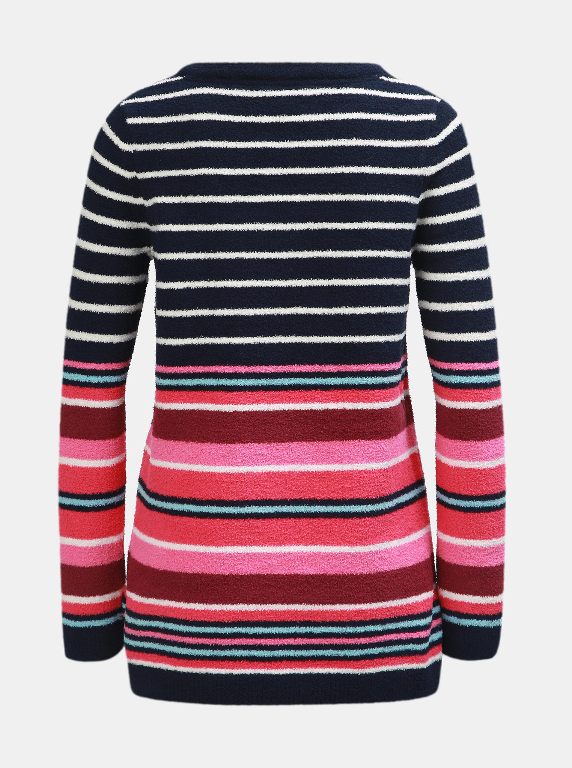 Růžovo-modrý dámský pruhovaný svetr Tom Joule ... 2d8cb23c28