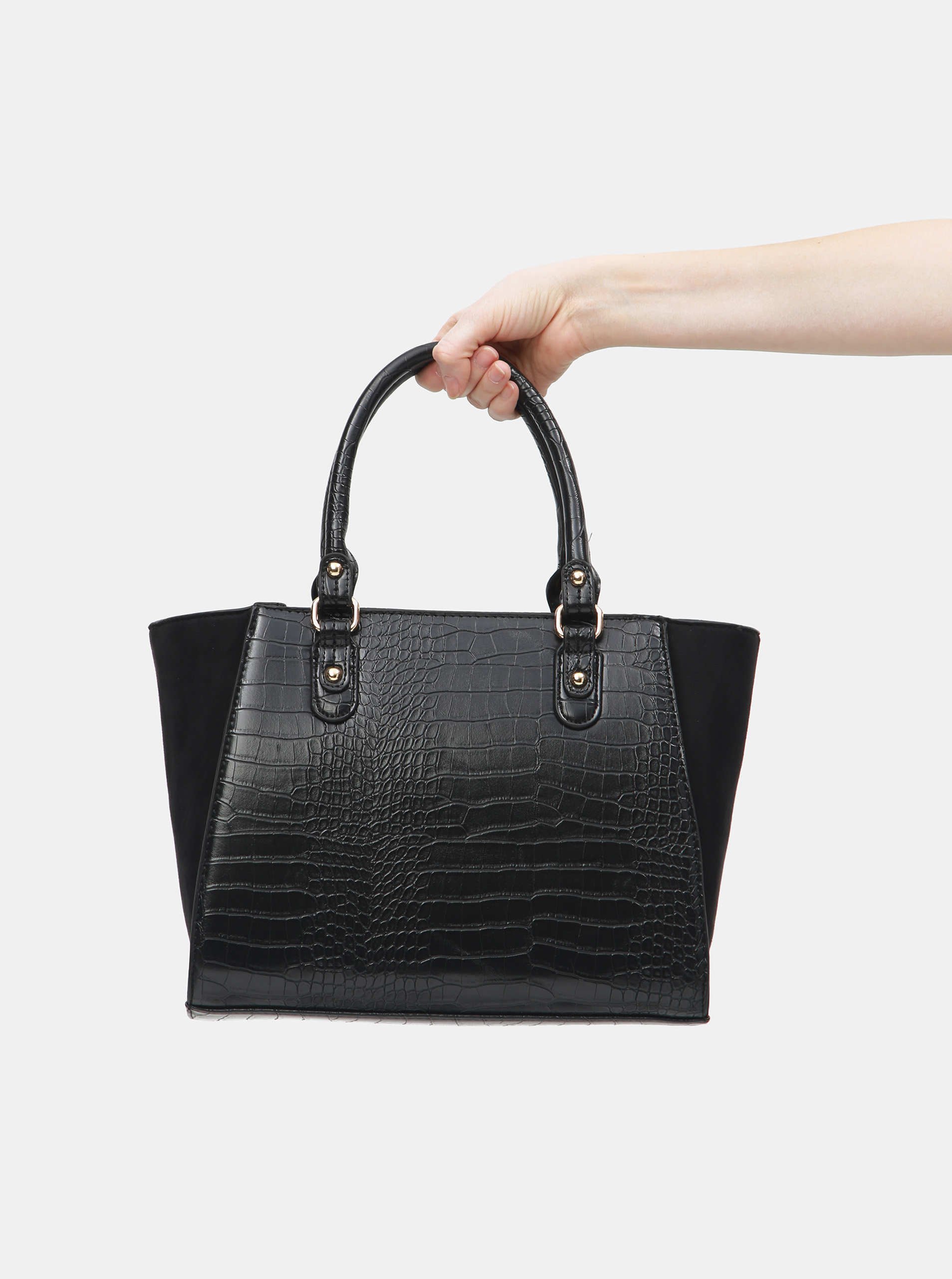 b9084b45b3 Černá kabelka s hadím vzorem Dorothy Perkins ...