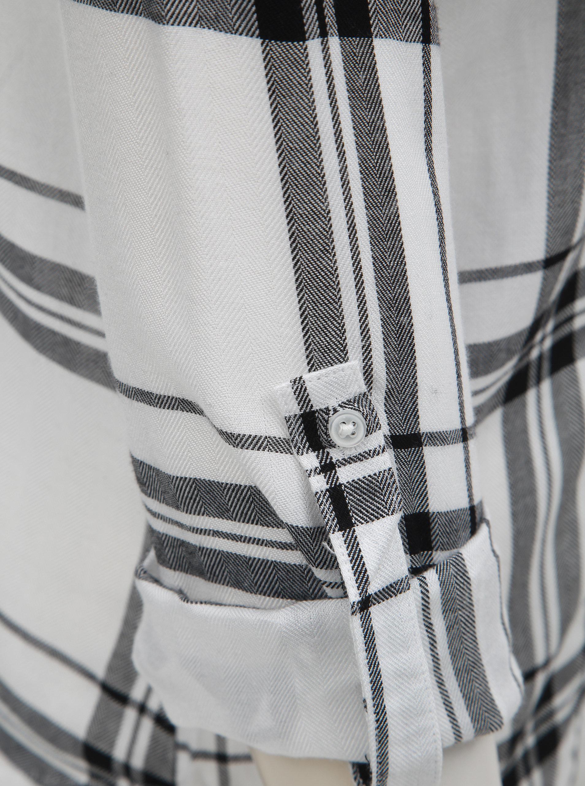 98fd4d747aae Čierno–biela kockovaná košeľa s náprsnými vreckami TALLY WEiJL ...