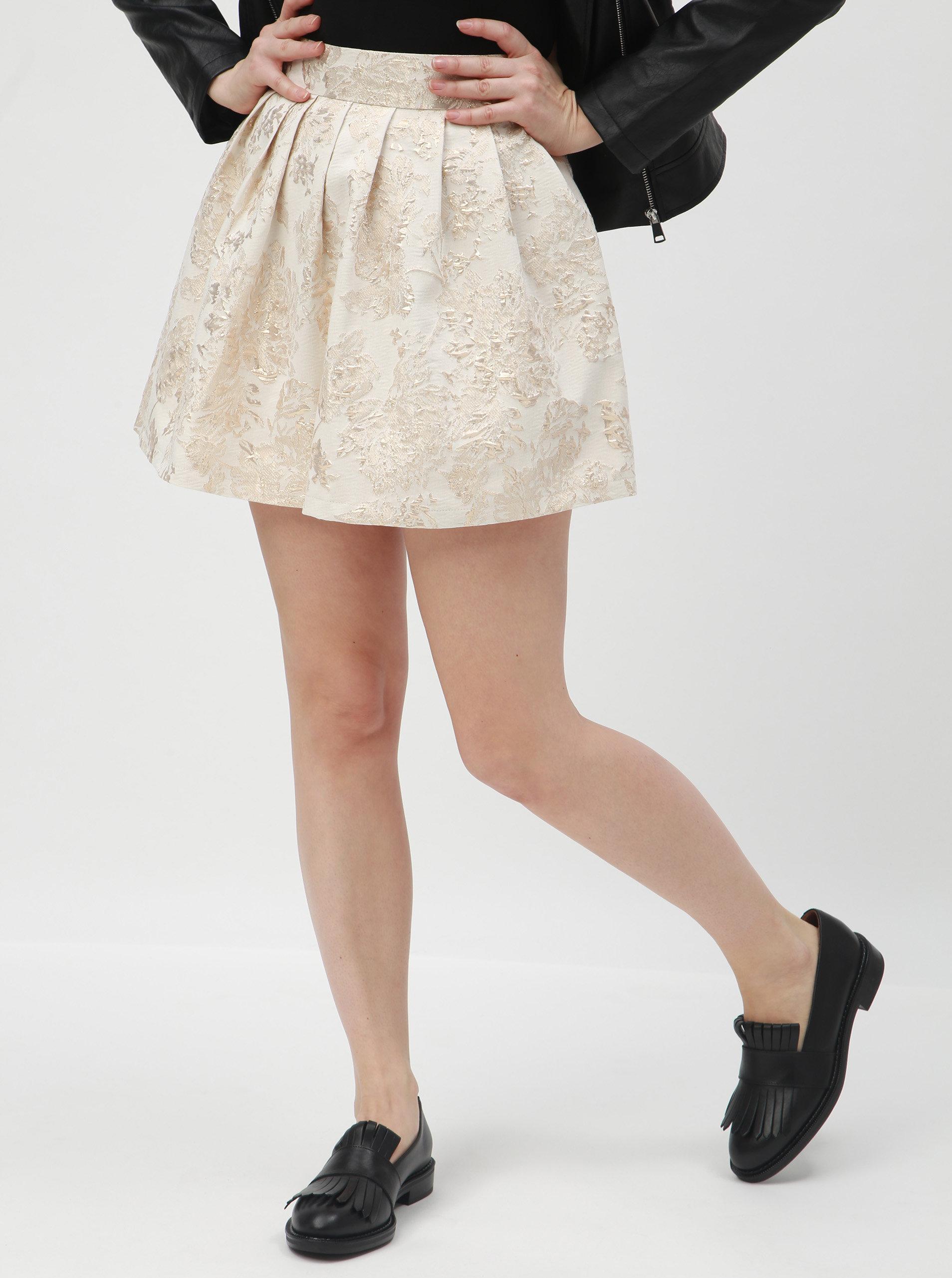 269e1d1d0b4 Krémová květovaná sukně TALLY WEiJL ...