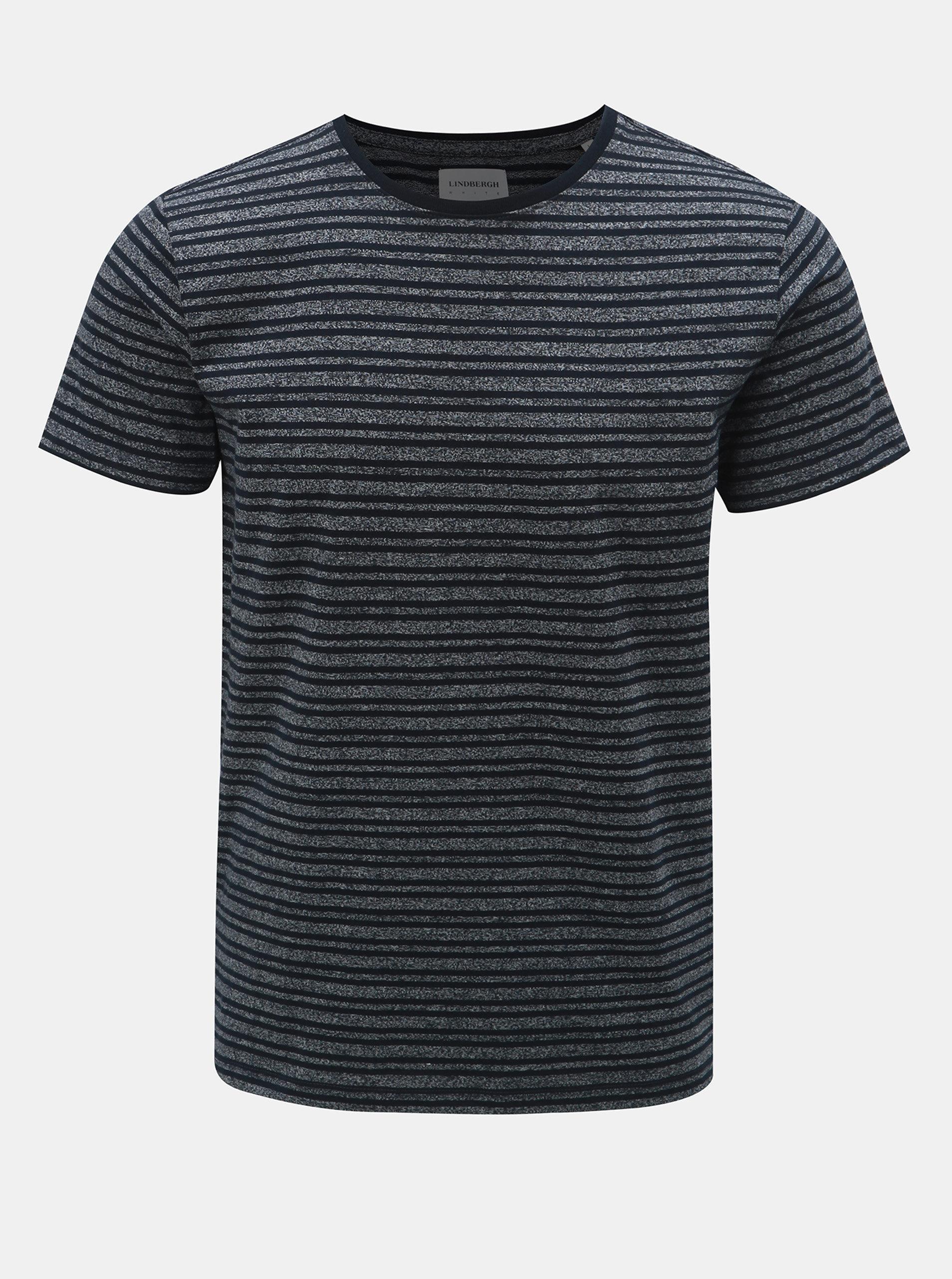 Tmavě modré pruhované tričko s krátkým rukávem Lindbergh ... 3a87054245