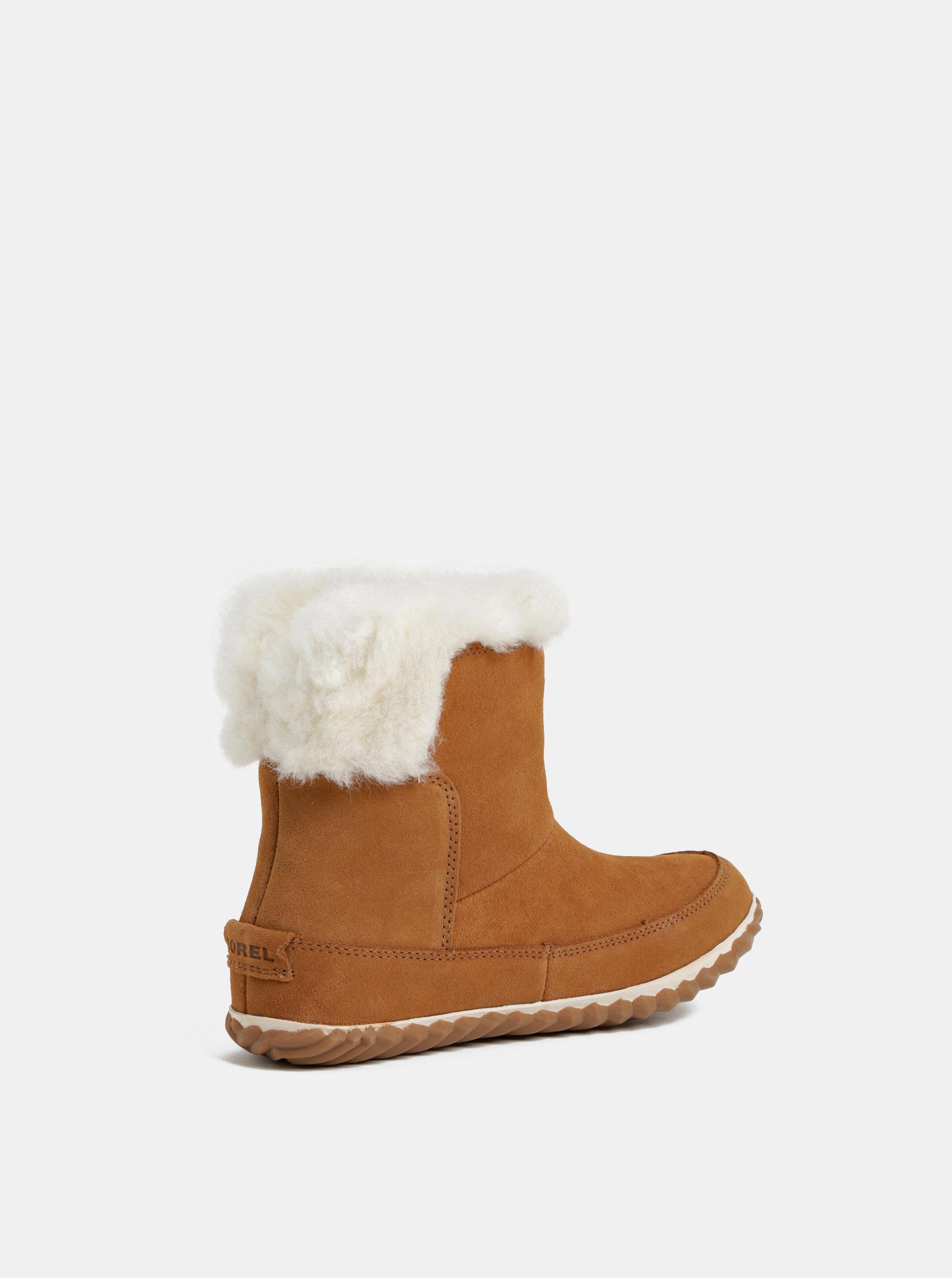 49a0c0f04794 Hnedé dámske semišové zimné členkové topánky s vnútornou umelou kožušinkou  SOREL OUT N ABOUT ...