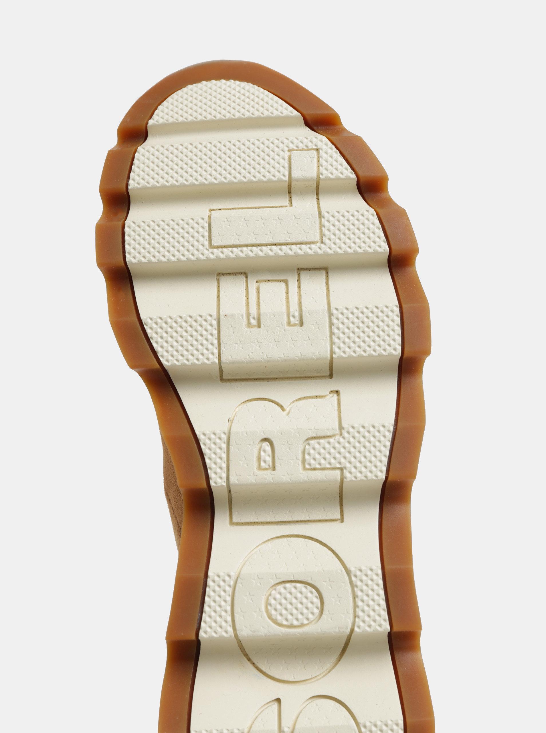 Hnedé dámske zimné členkové nepremokavé topánky v semišovej úprave SOREL  Kinetic ... 8300b633637