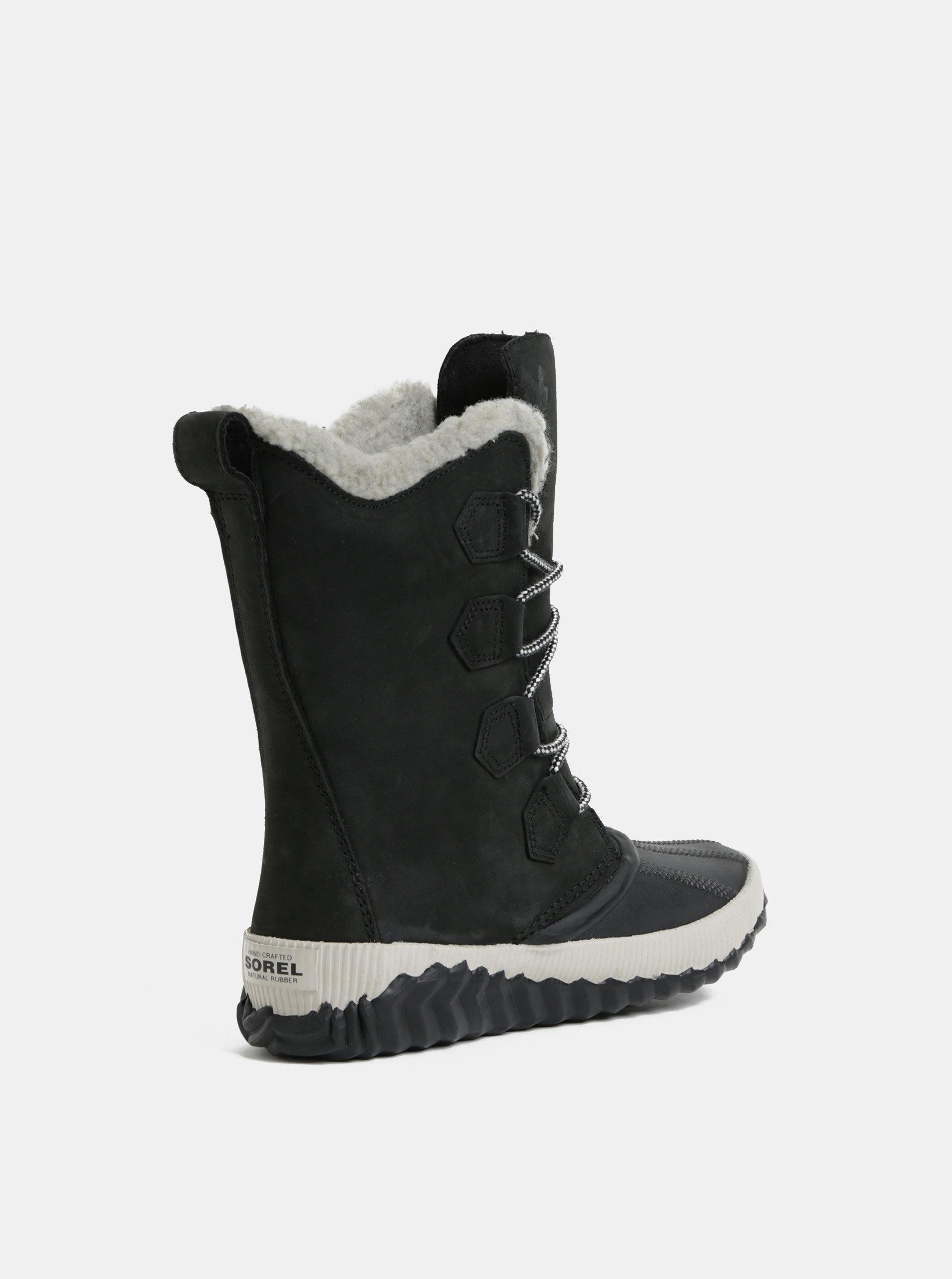 Černé dámské semišové voděodolné zimní boty SOREL Newbie ... bb04a24ad4