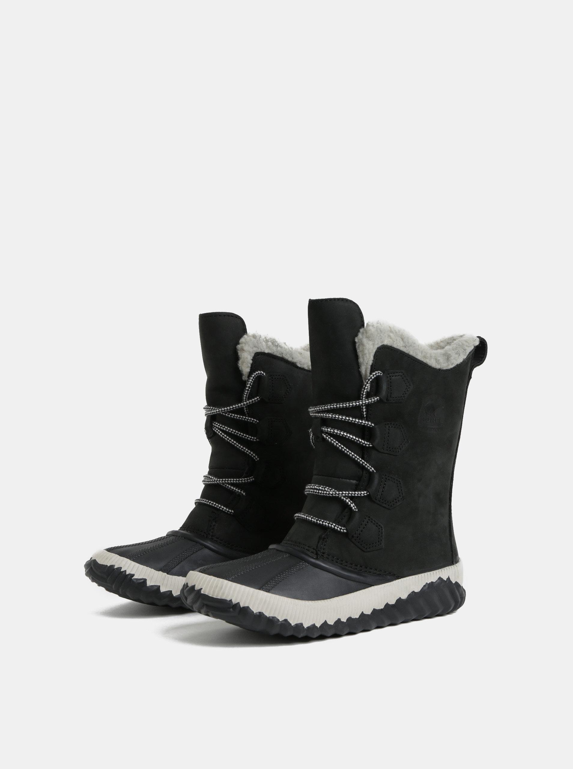 49fb32f7d2ed Čierne dámske semišové nepremokavé zimné topánky SOREL Newbie ...