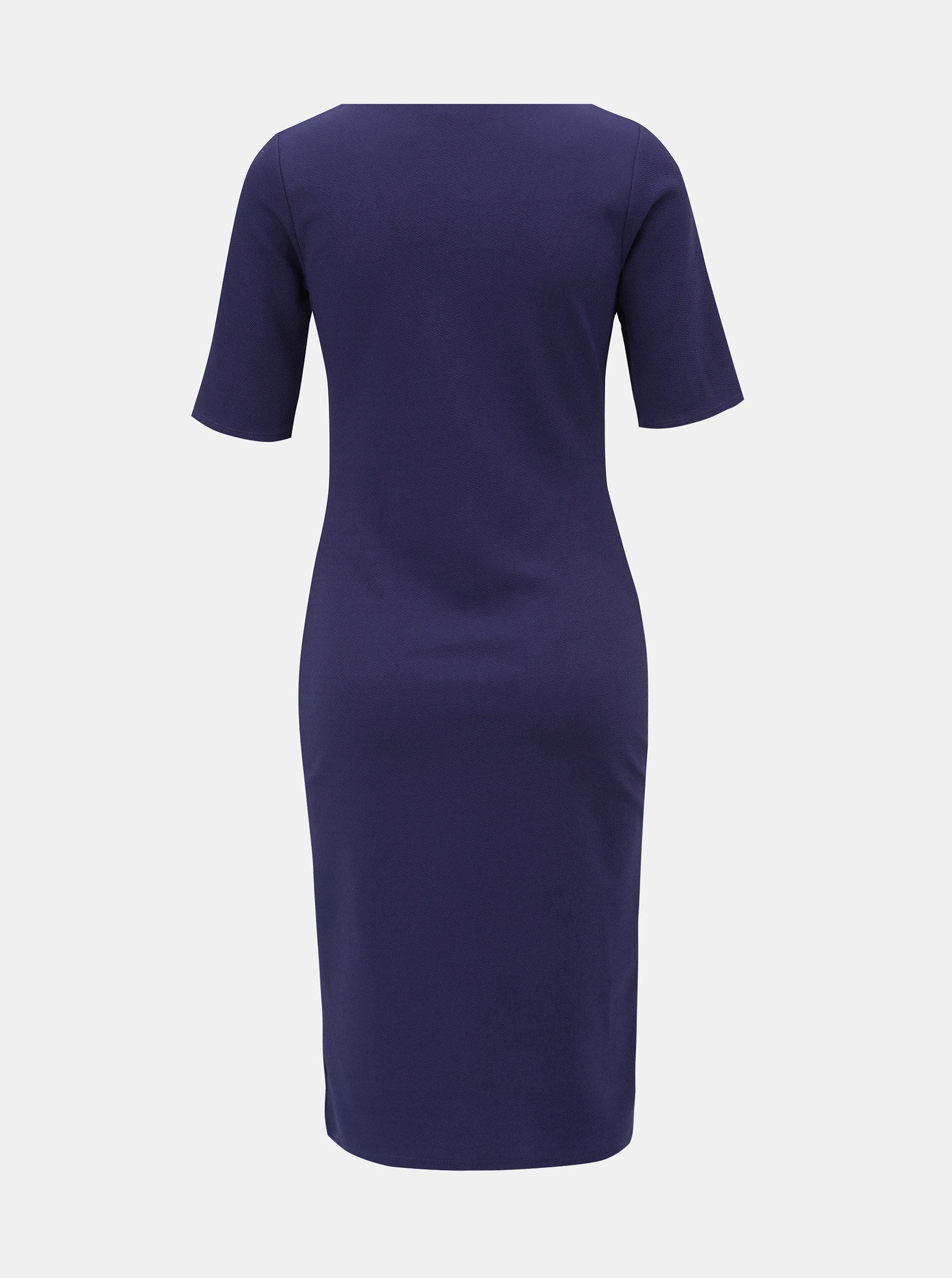 Modré pouzdrové šaty s krátkým rukávem Dorothy Perkins Tall ... 668085d485