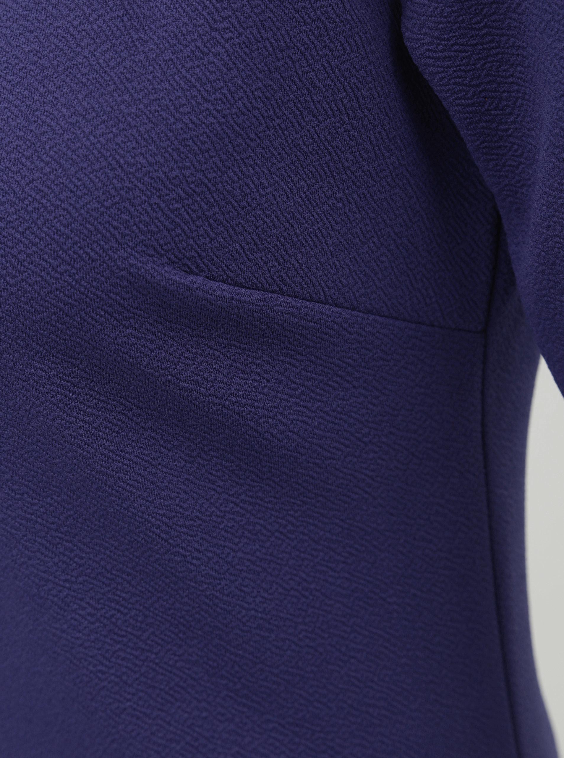 d3e4694235b8 Modré puzdrové šaty s krátkym rukávom Dorothy Perkins Tall ...